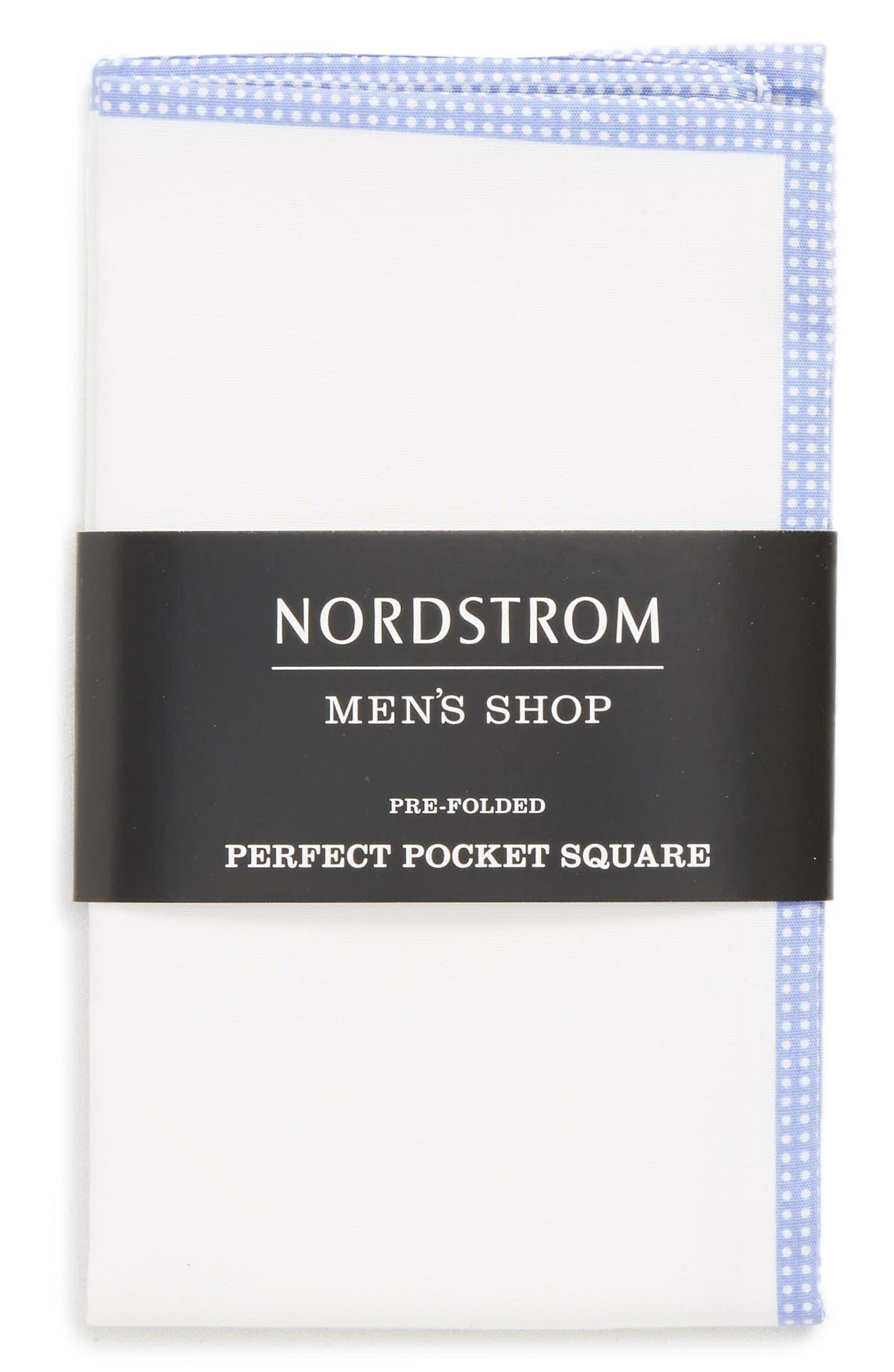 Alternate Image 3  - Nordstrom Men's Shop The Perfect Pre-Folded Pocket Square (3 for $49)