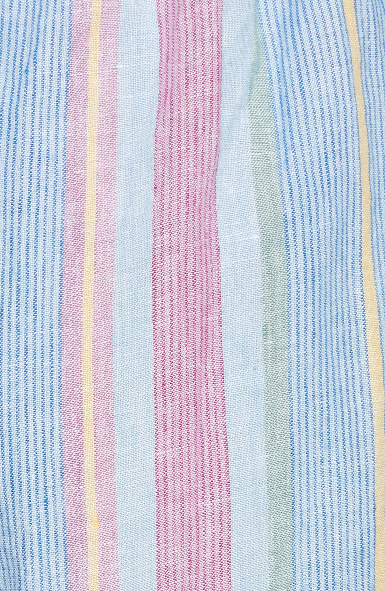Easy Stripe Linen Pants,                             Alternate thumbnail 7, color,                             Purple Multi