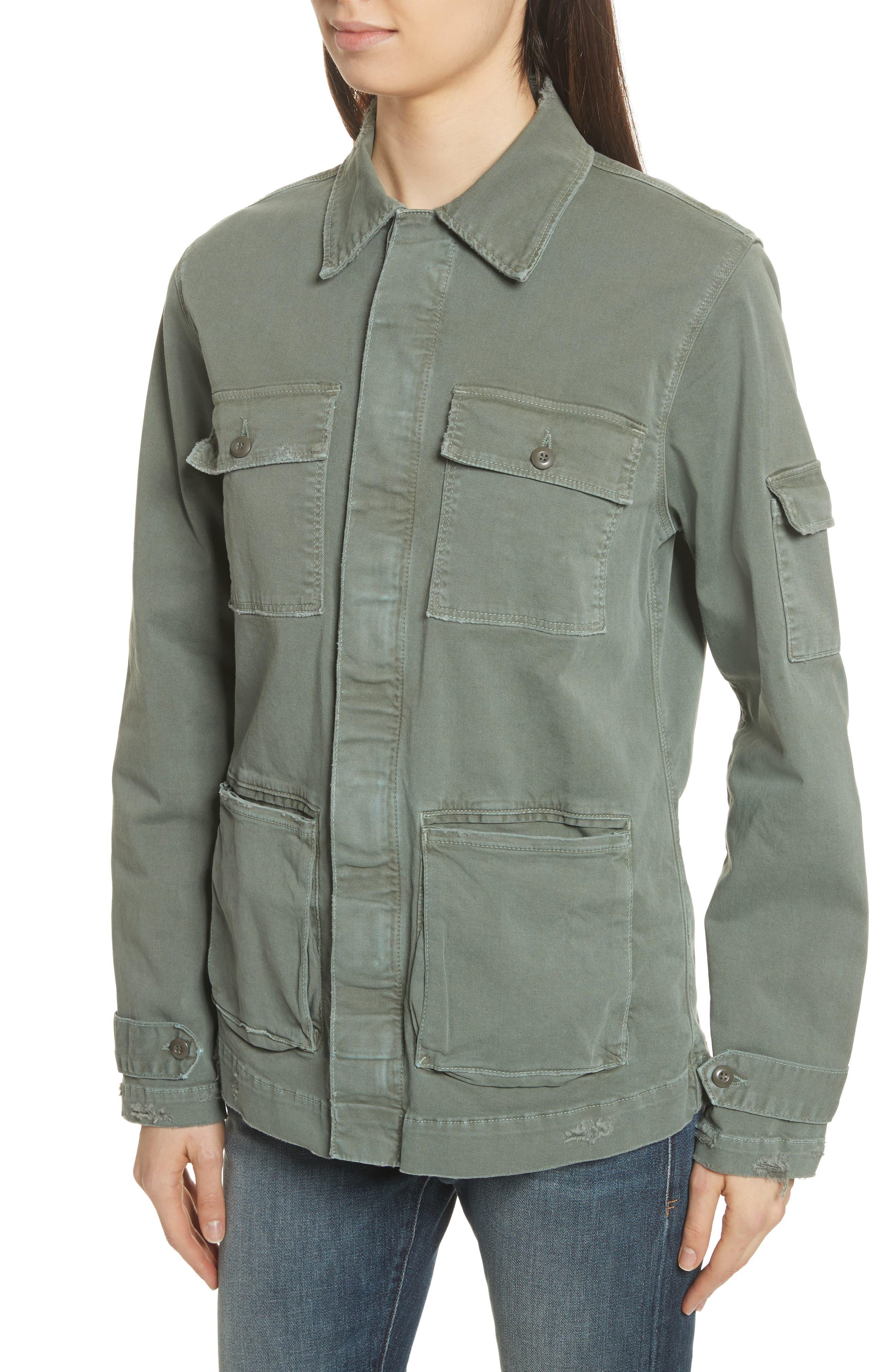 Slouchy Utility Jacket,                             Alternate thumbnail 5, color,                             Platoon