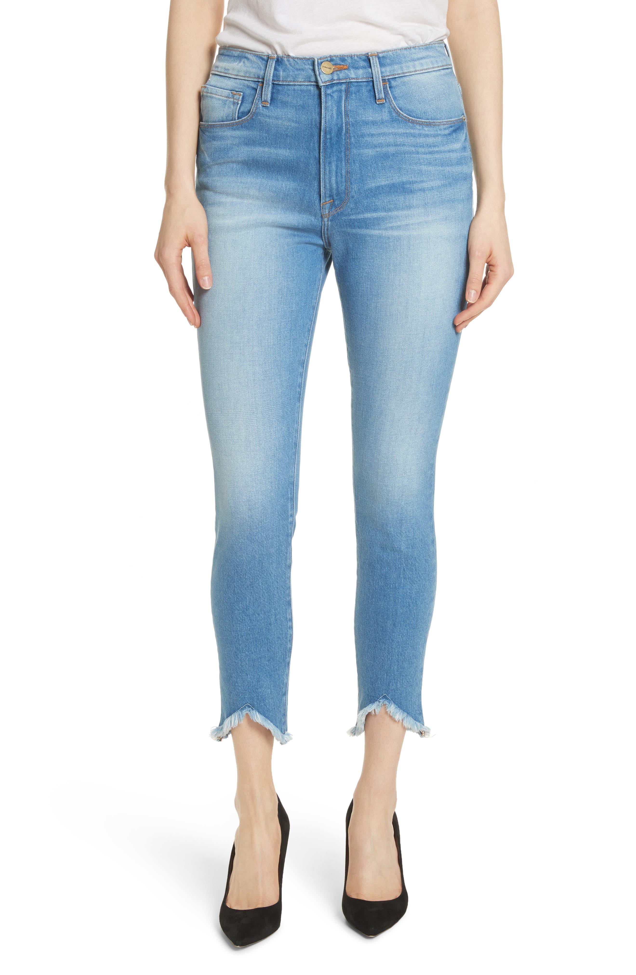 Ali High Waist Ankle Skinny Jeans,                         Main,                         color, Opus