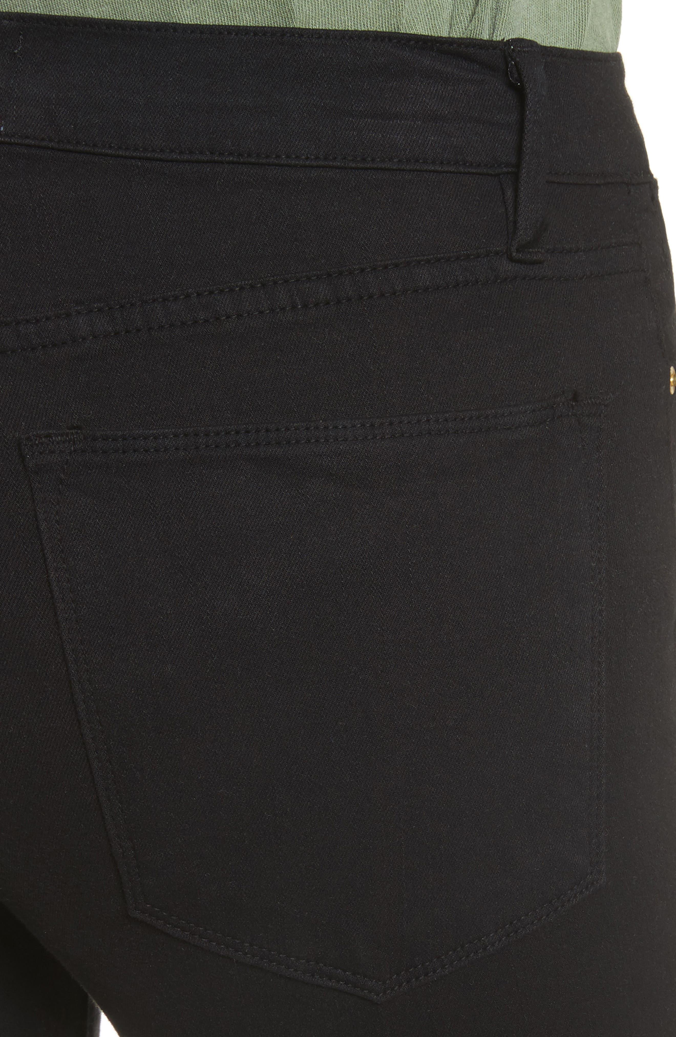 Alternate Image 4  - FRAME Le High Shredded Skinny Jeans (Film Noir)