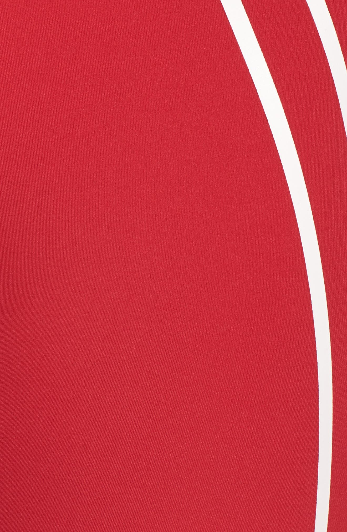 Distance Tights,                             Alternate thumbnail 6, color,                             Havana Red/ Off White