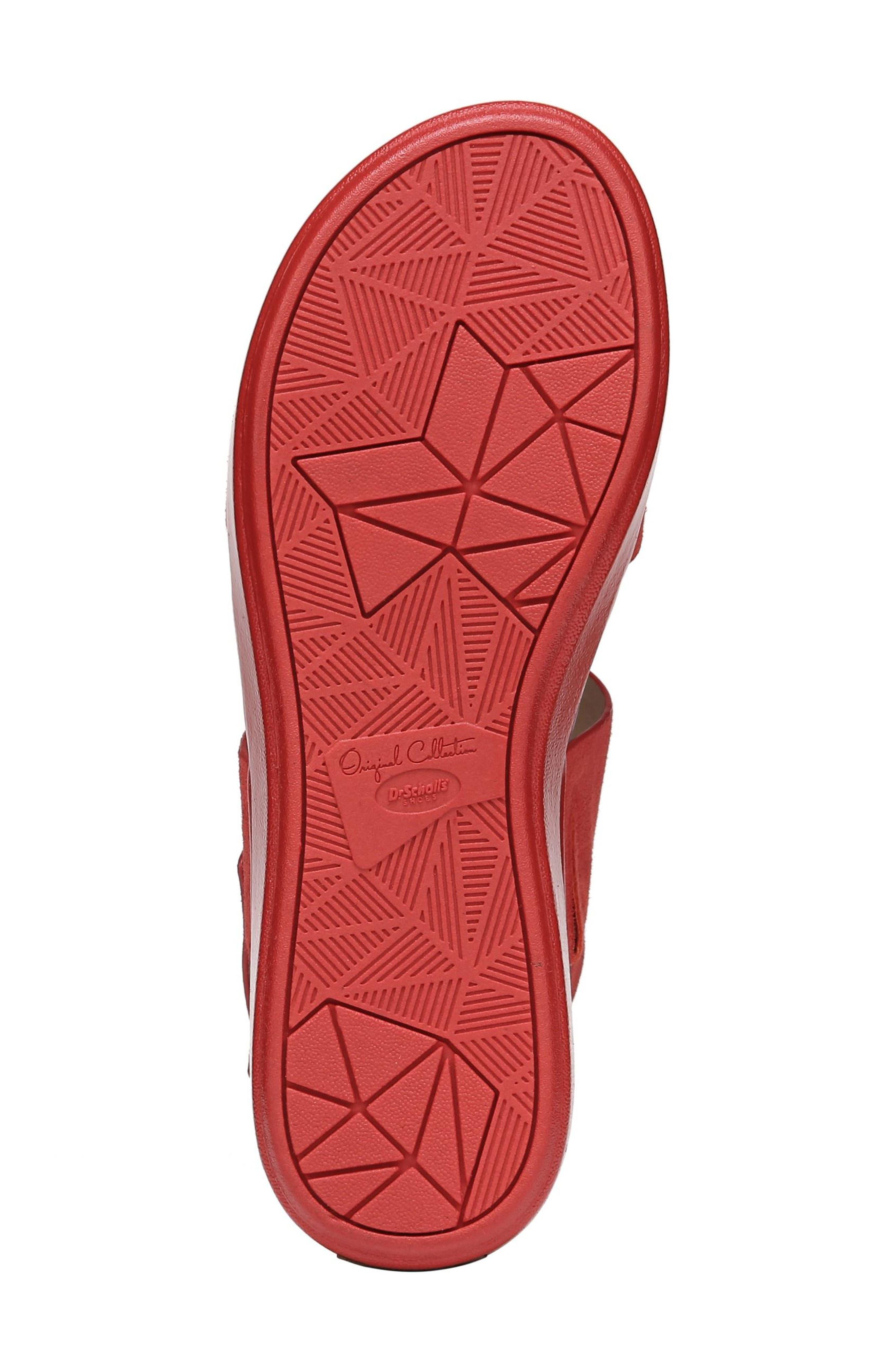 Scout Platform Sandal,                             Alternate thumbnail 6, color,                             Paprika Suede