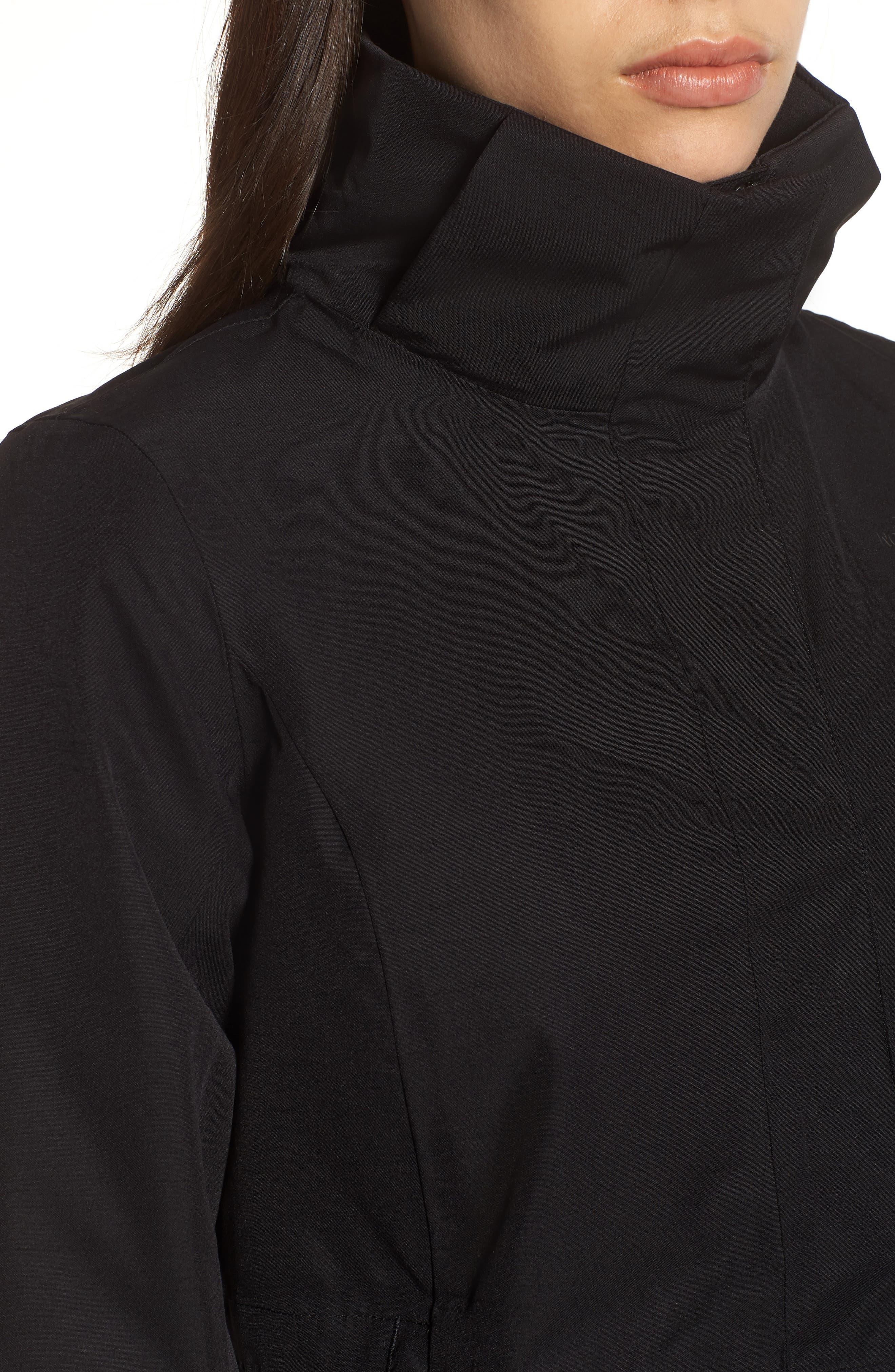 Ancha II Hooded Waterproof Parka,                             Alternate thumbnail 4, color,                             Black