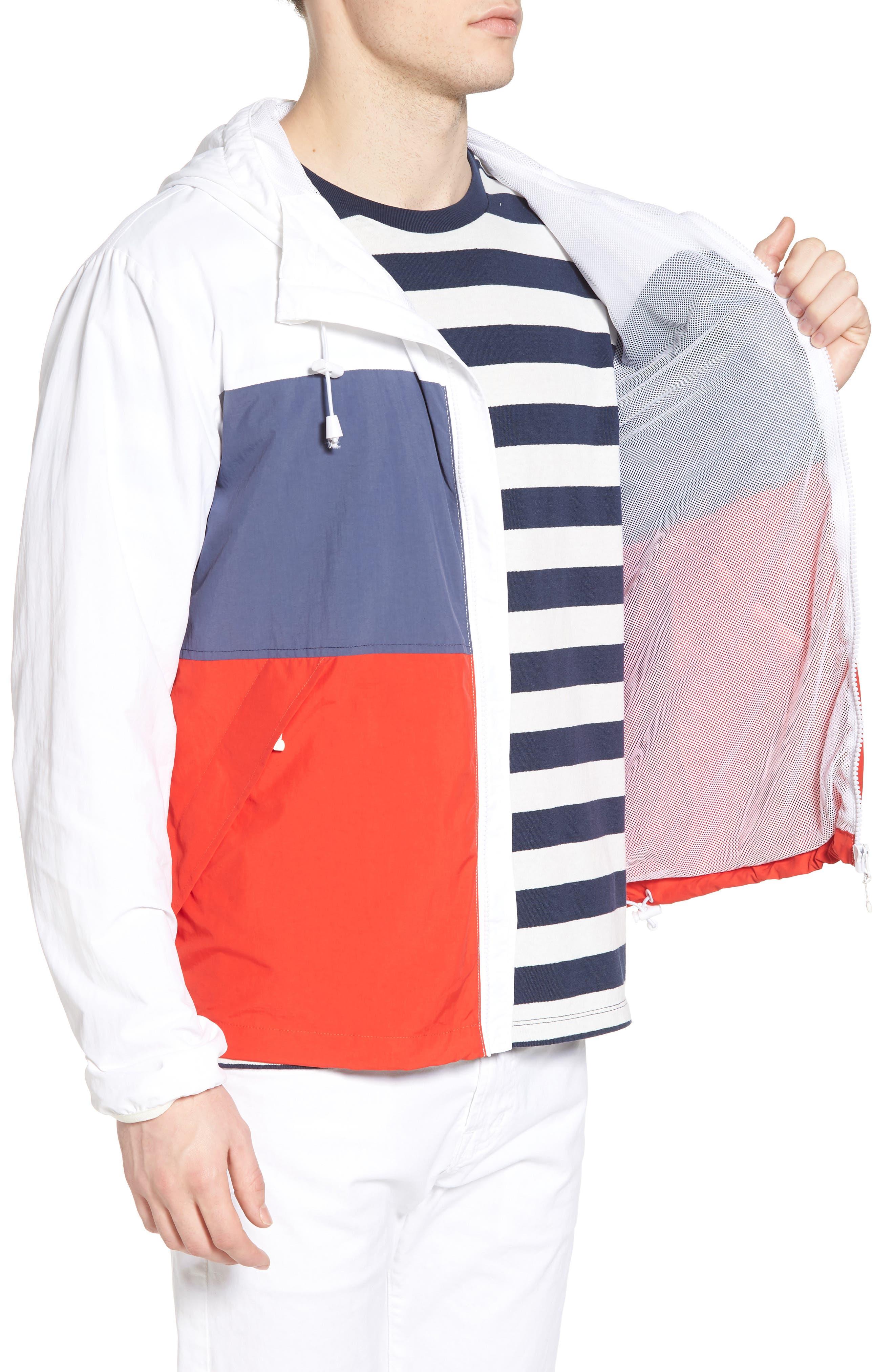 Alosa Colorblock Jacket,                             Alternate thumbnail 3, color,                             White