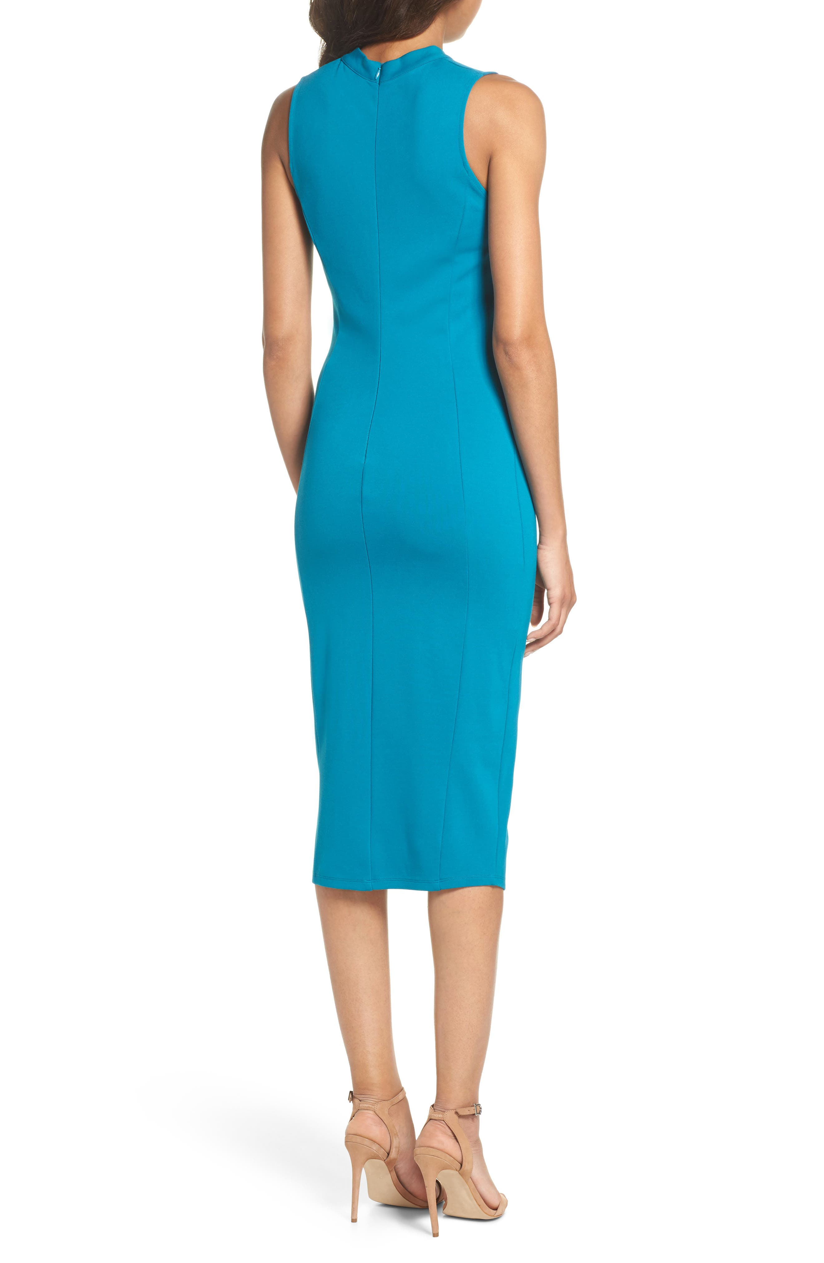 Alternate Image 2  - Felicity & Coco Pepa Mock Neck Sheath Dress (Nordstrom Exclusive)
