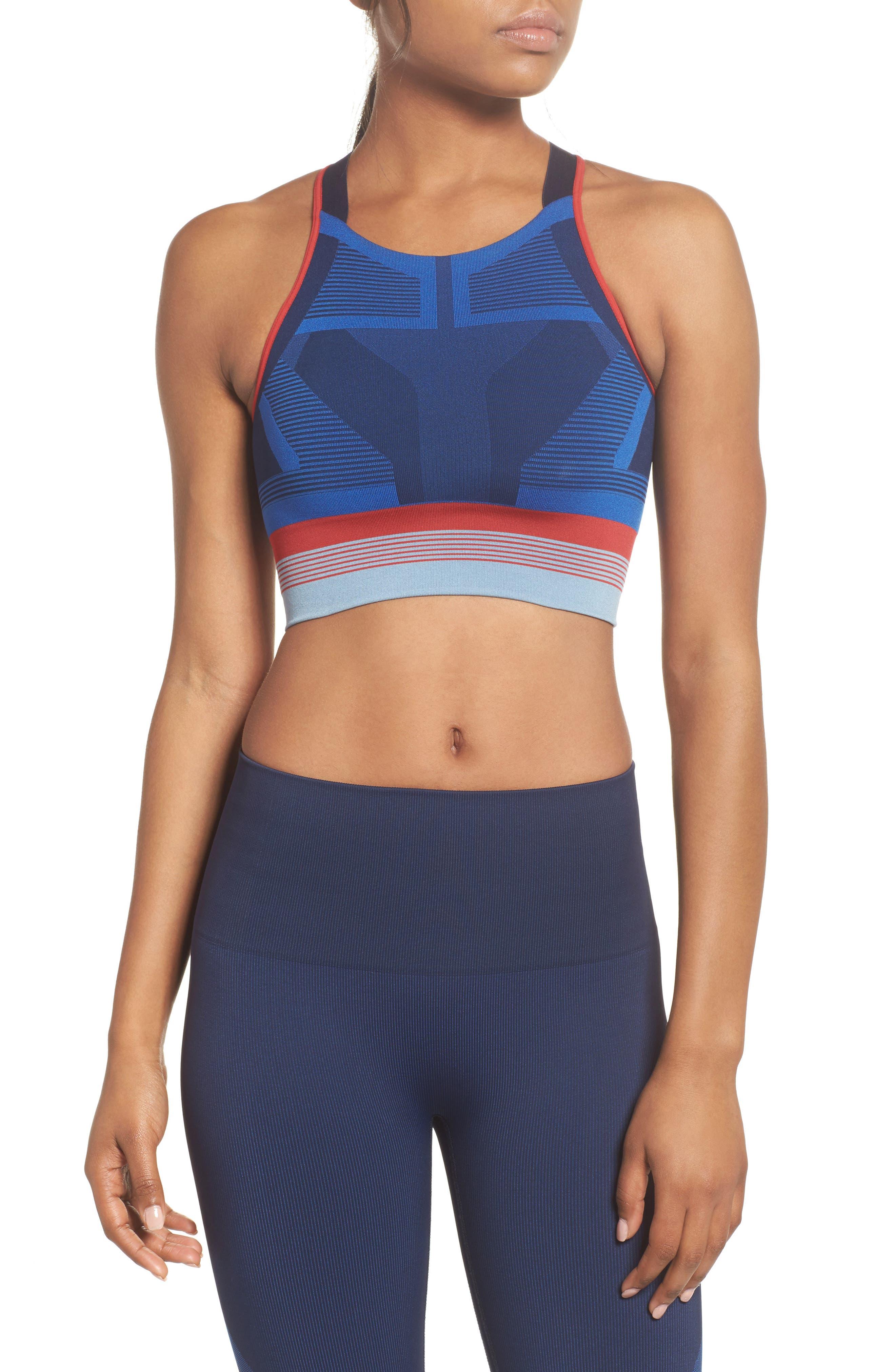 Spectrum Seamless Sports Bra,                         Main,                         color, Cornflower Blue
