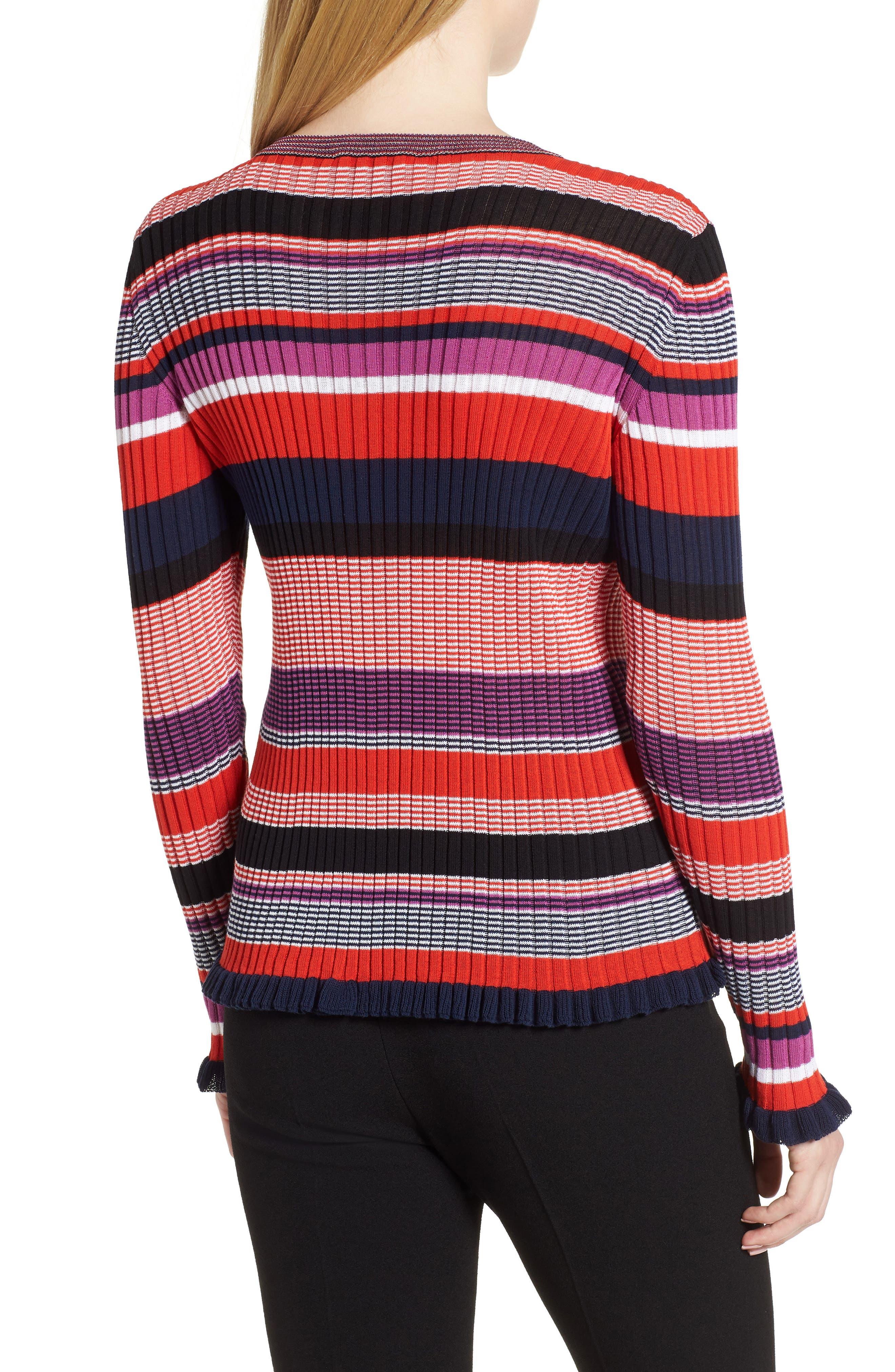 Fallegria Stripe Sweater,                             Alternate thumbnail 2, color,                             Black Fantasy