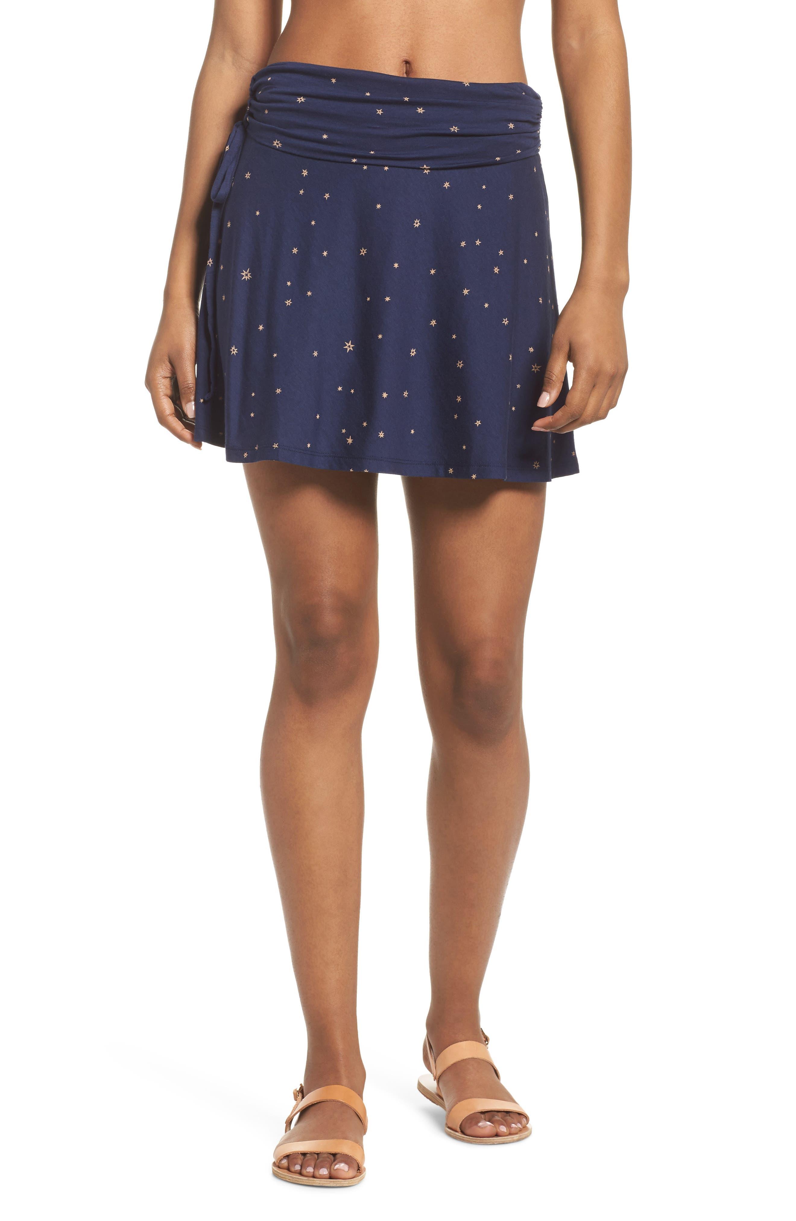 Lithia Cotton Blend Skirt,                             Main thumbnail 1, color,                             Micr Mica Pop Classic Navy