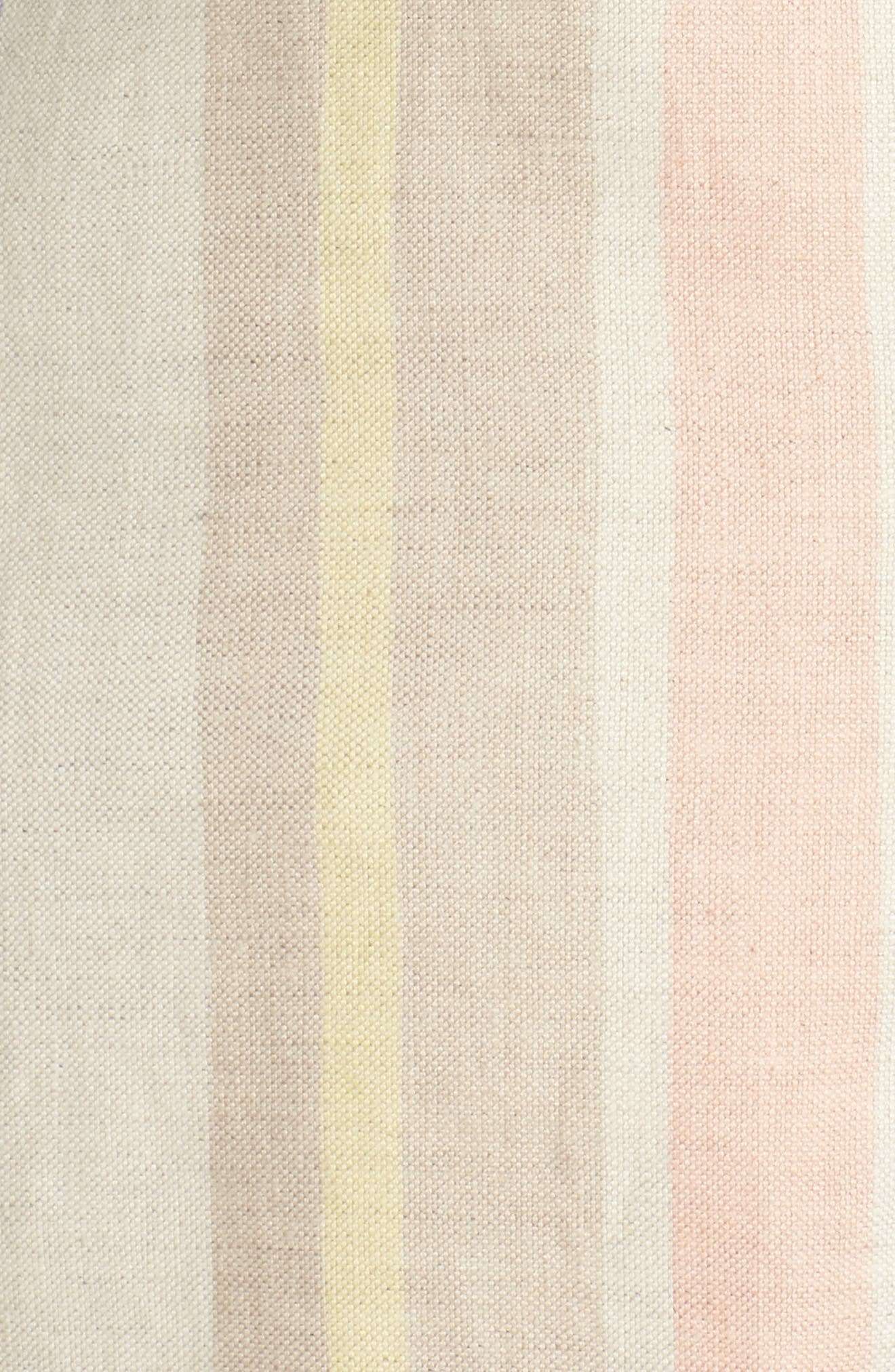 Marie Stripe Linen Jacket,                             Alternate thumbnail 5, color,                             Raffia Multi