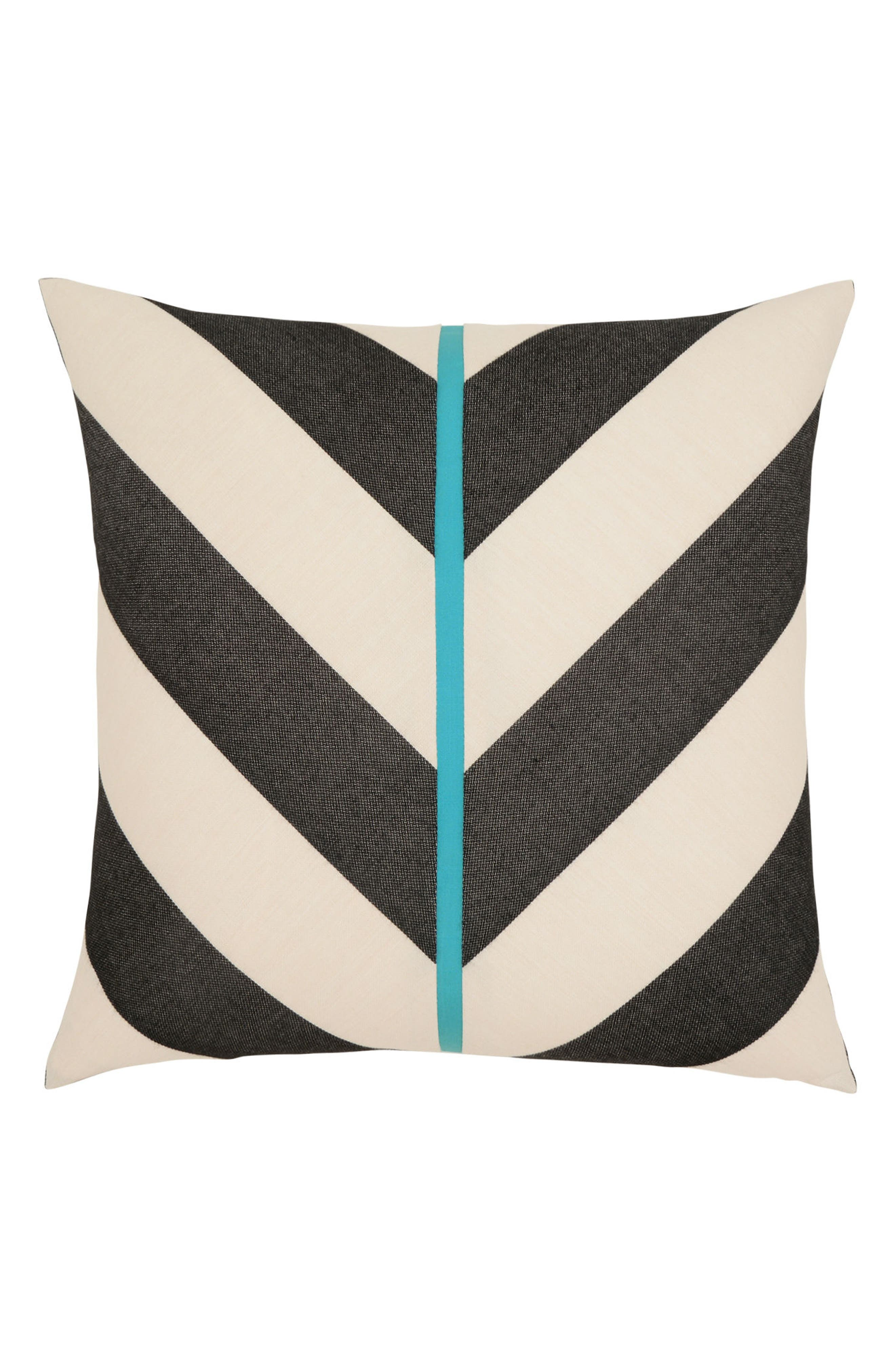 Harmony Chevron Indoor/Outdoor Accent Pillow,                             Main thumbnail 1, color,                             Black/ White