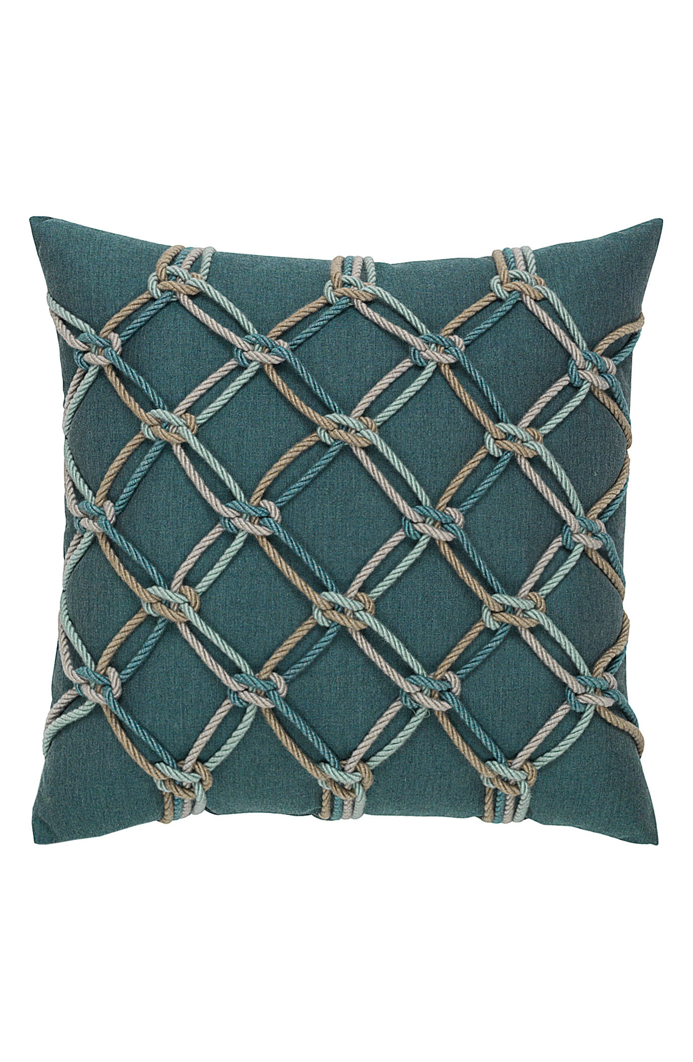 Lagoon Rope Indoor/Outdoor Accent Pillow,                         Main,                         color, Blue