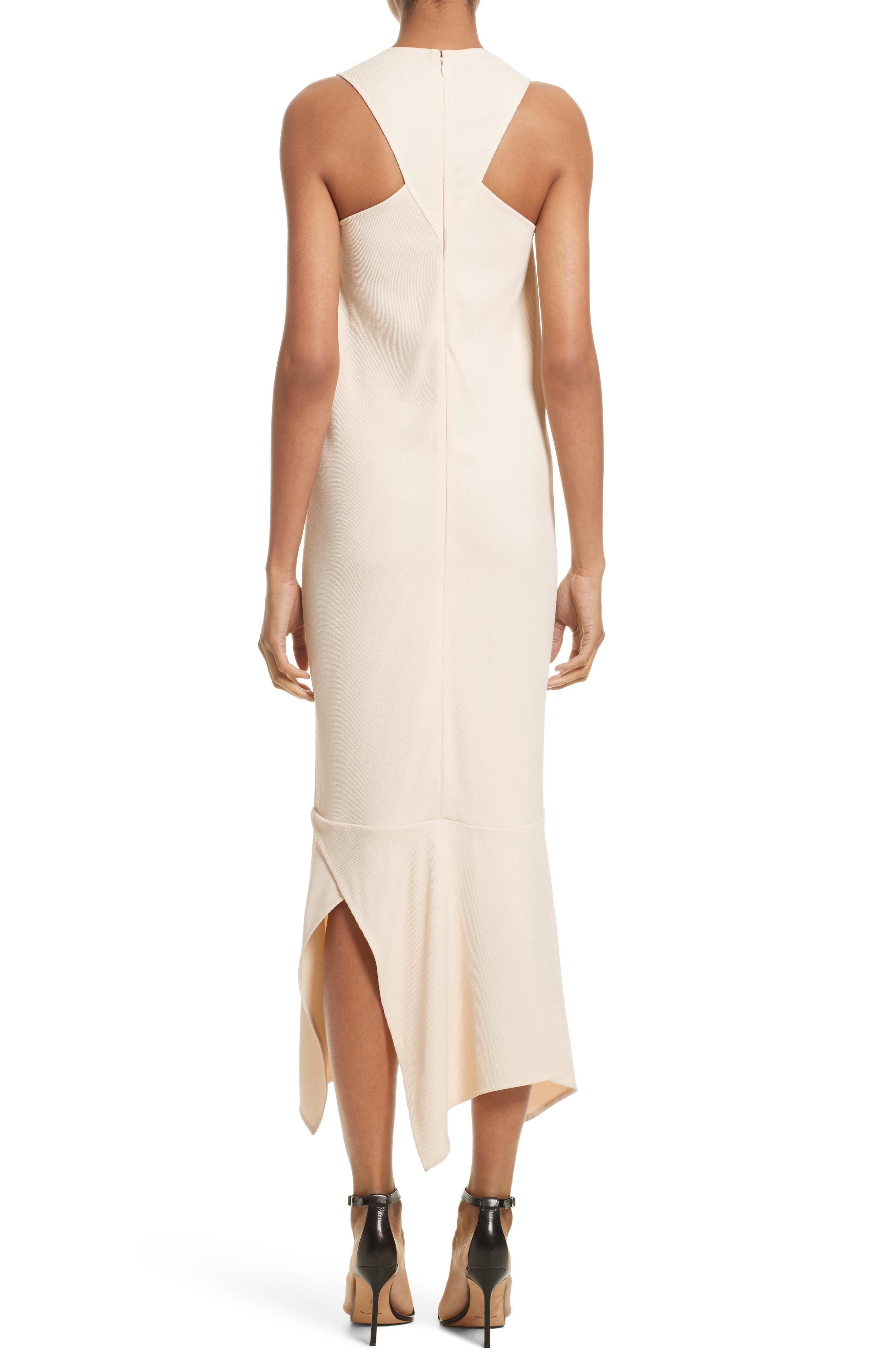 Handkerchief Hem Racerback Dress,                             Alternate thumbnail 2, color,                             Cream