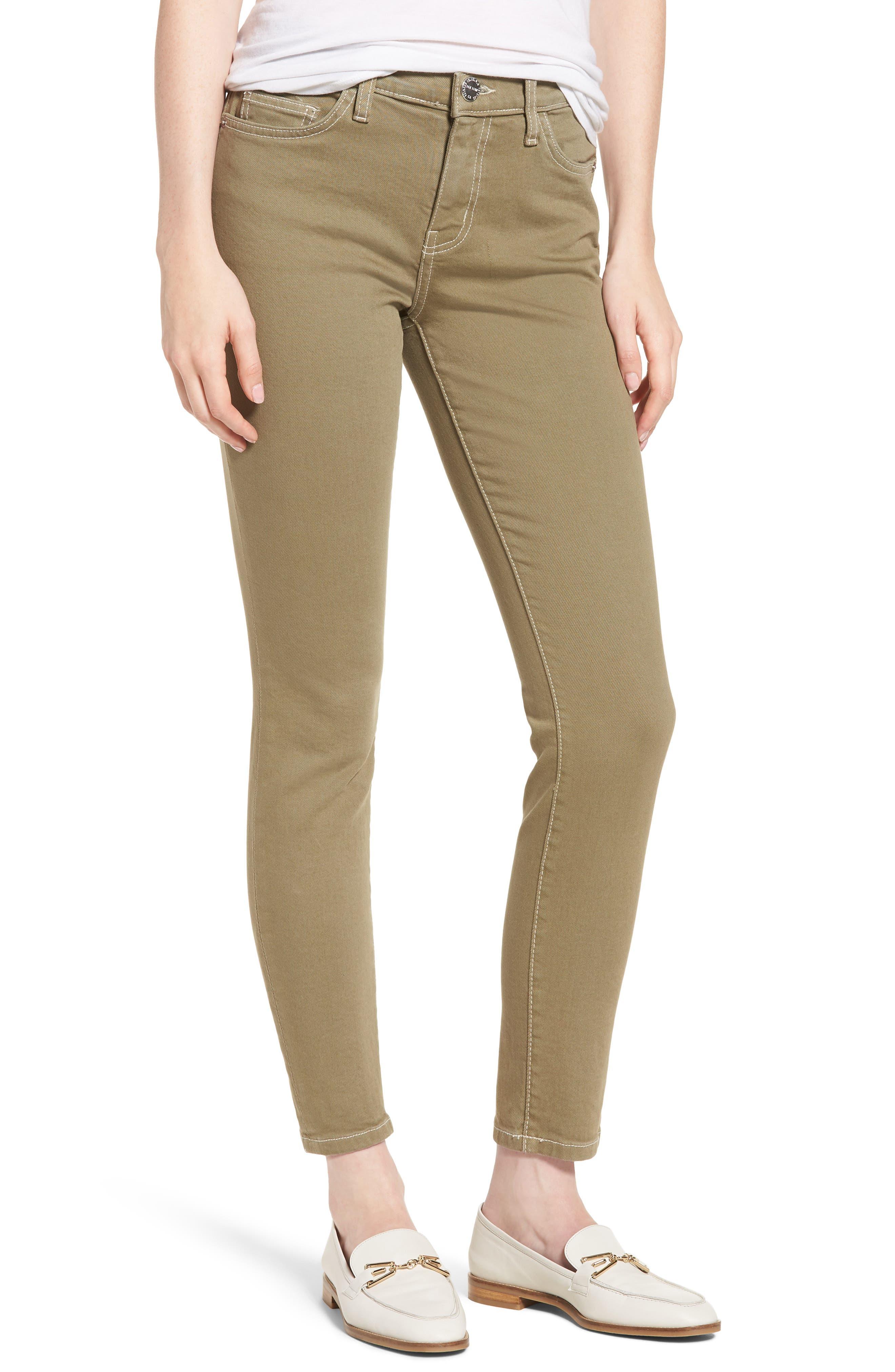 Current/Elliott The Stiletto Ankle Skinny Jeans (Covert Green)