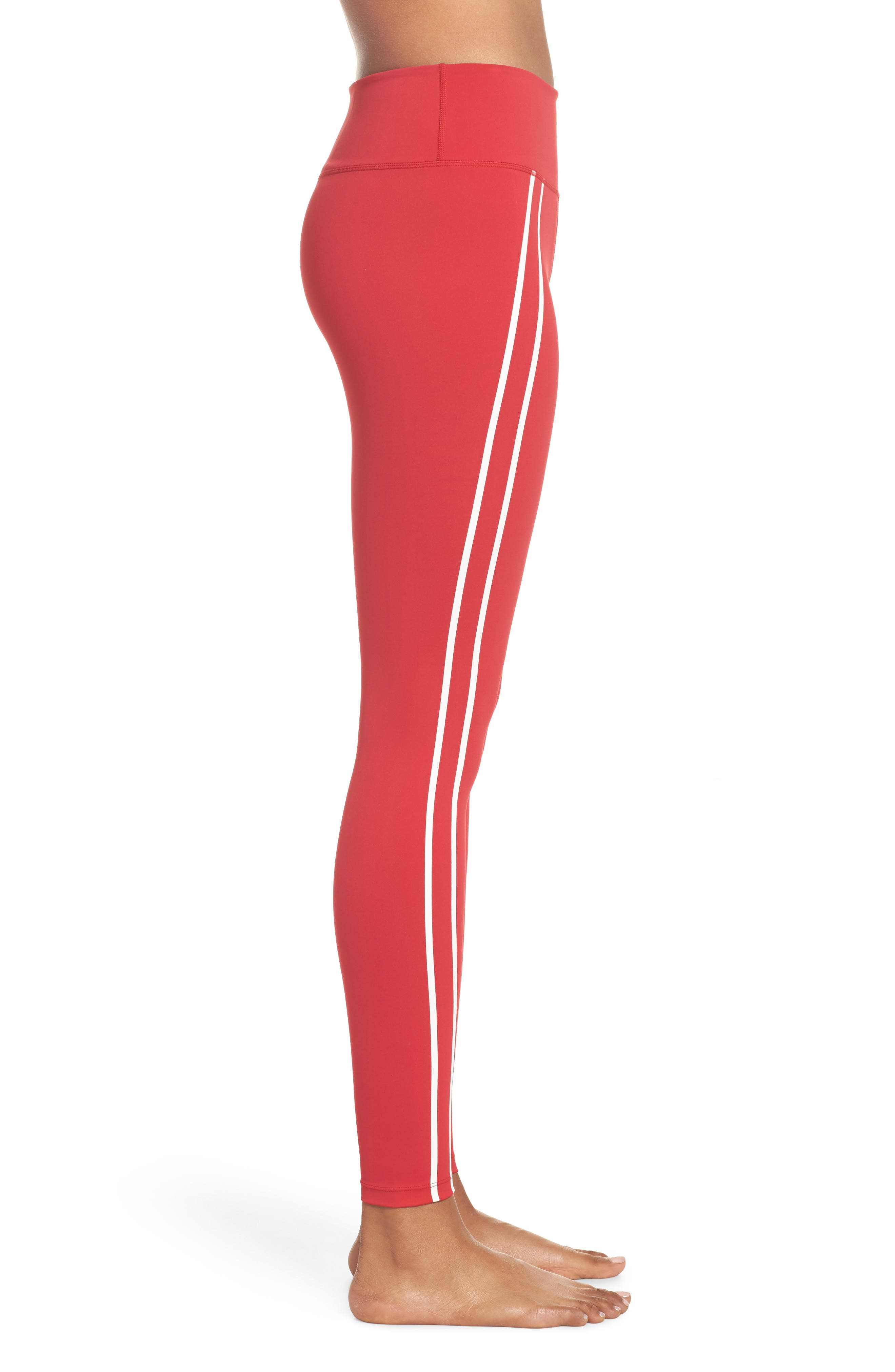 Distance Tights,                             Alternate thumbnail 3, color,                             Havana Red/ Off White