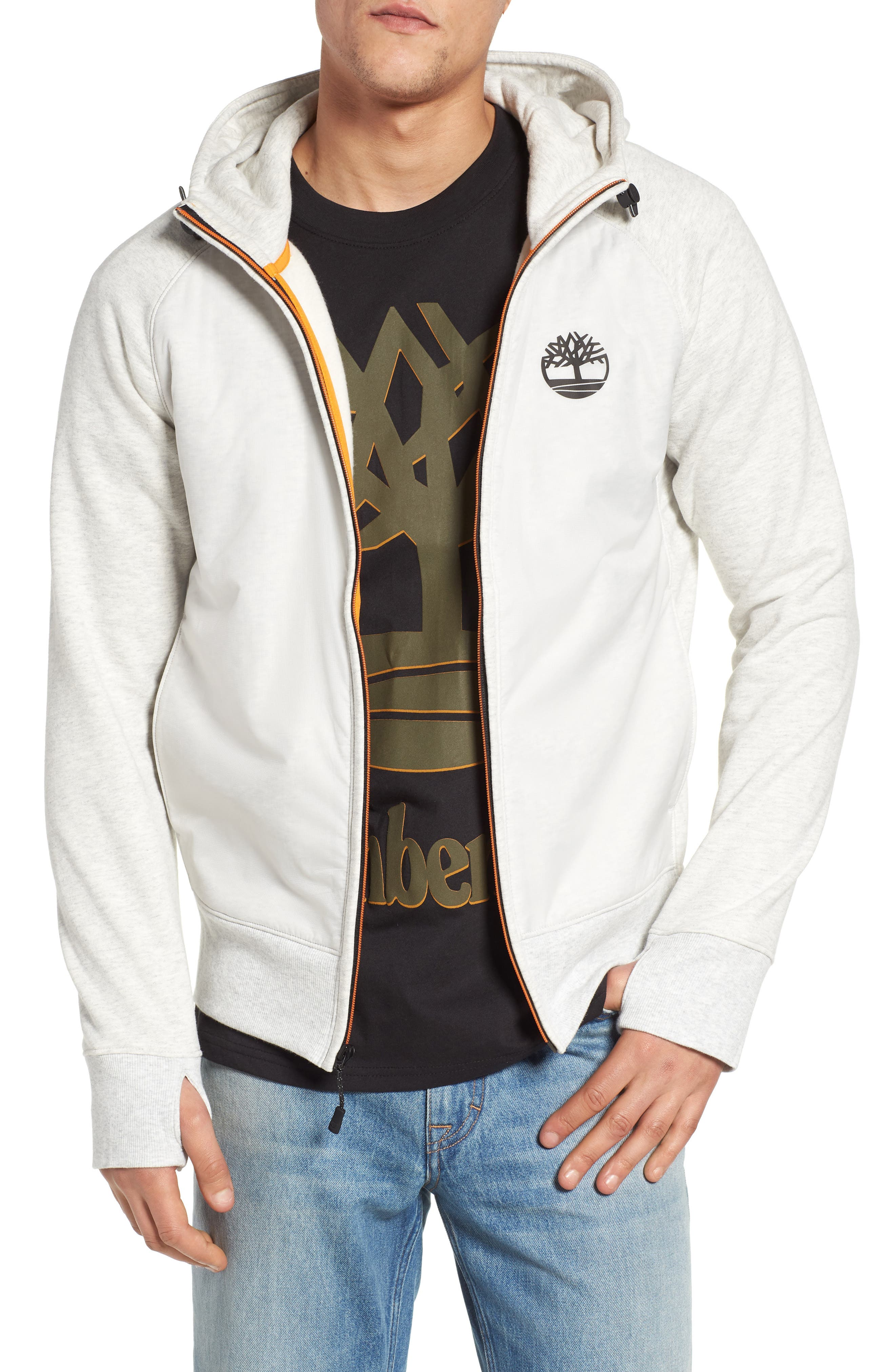 Timberland Mixed Media Hooded Jacket