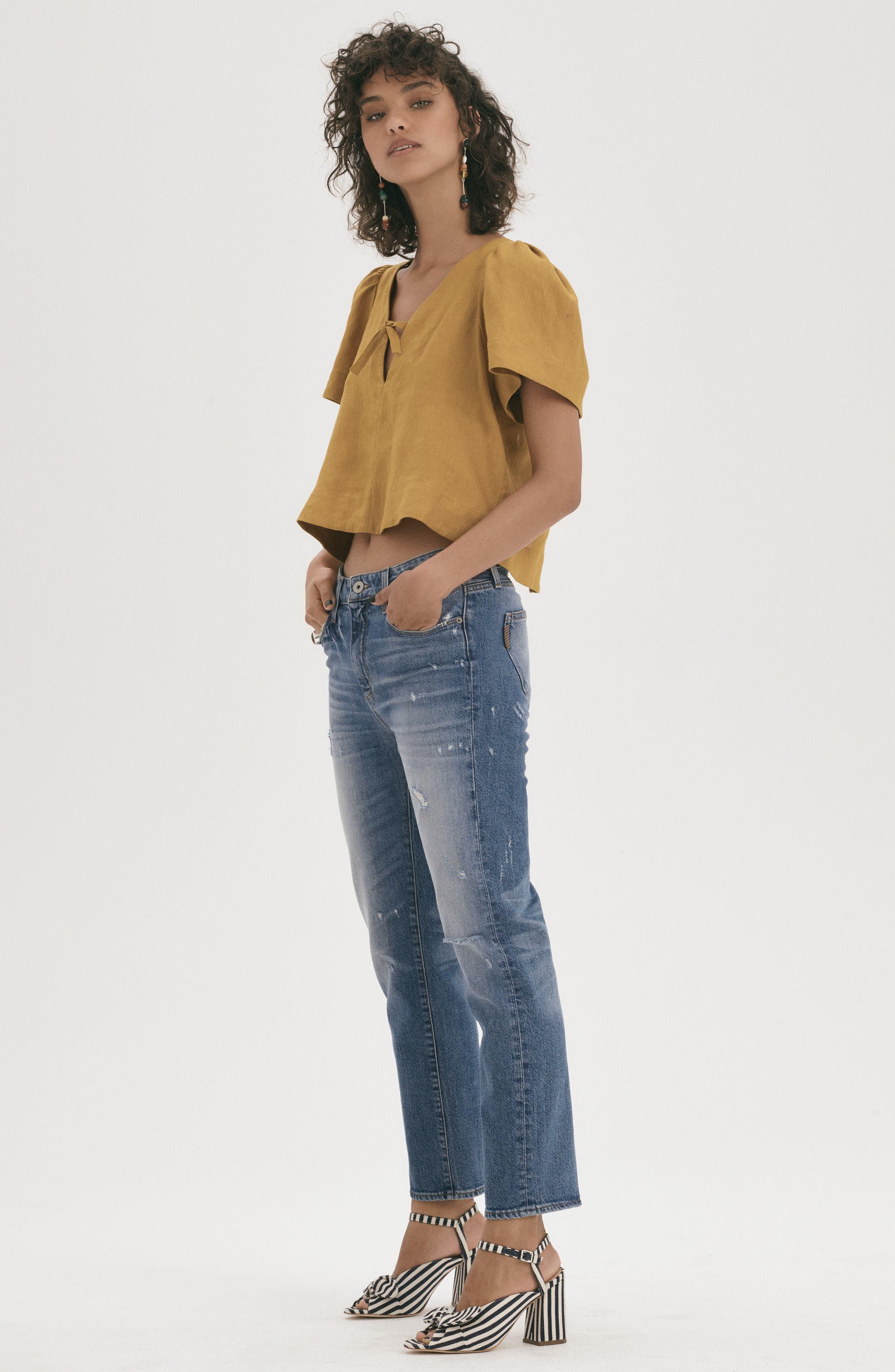 Transcend Vintage - Noella Straight Leg Jeans,                             Alternate thumbnail 2, color,