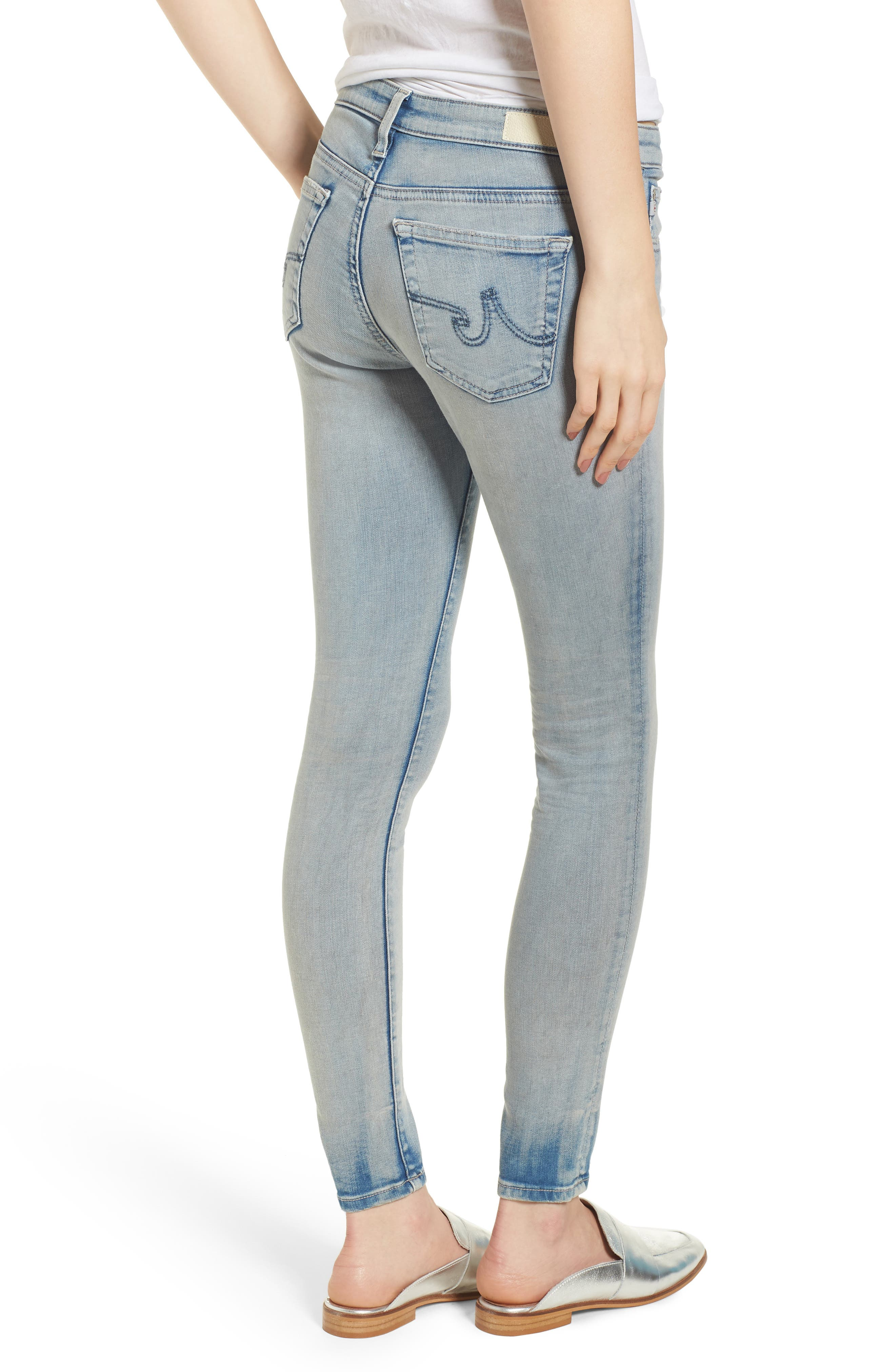 The Legging Ankle Super Skinny Jeans,                             Alternate thumbnail 2, color,                             18 Years-Tainted Clouds