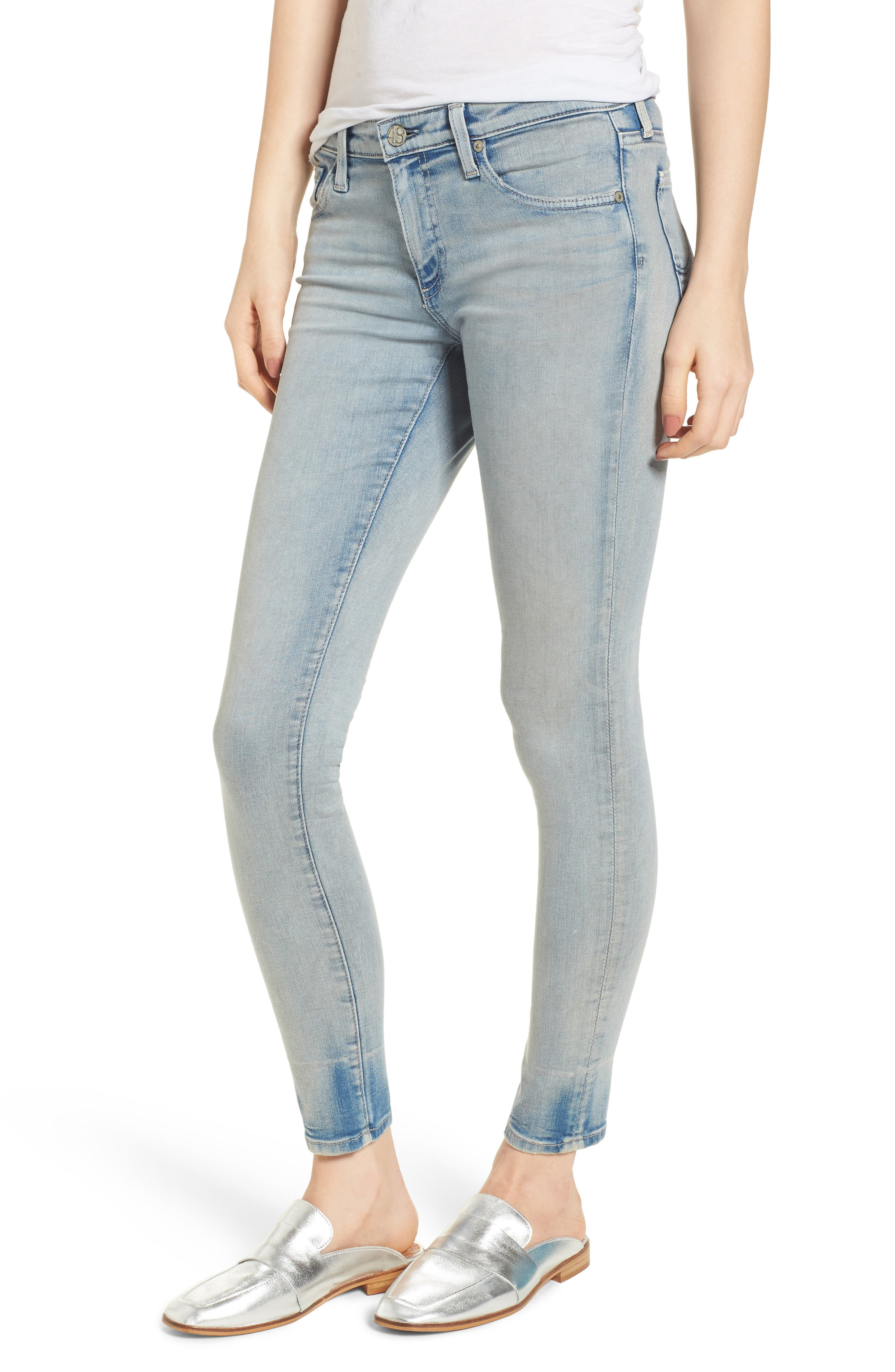 The Legging Ankle Super Skinny Jeans,                         Main,                         color, 18 Years-Tainted Clouds