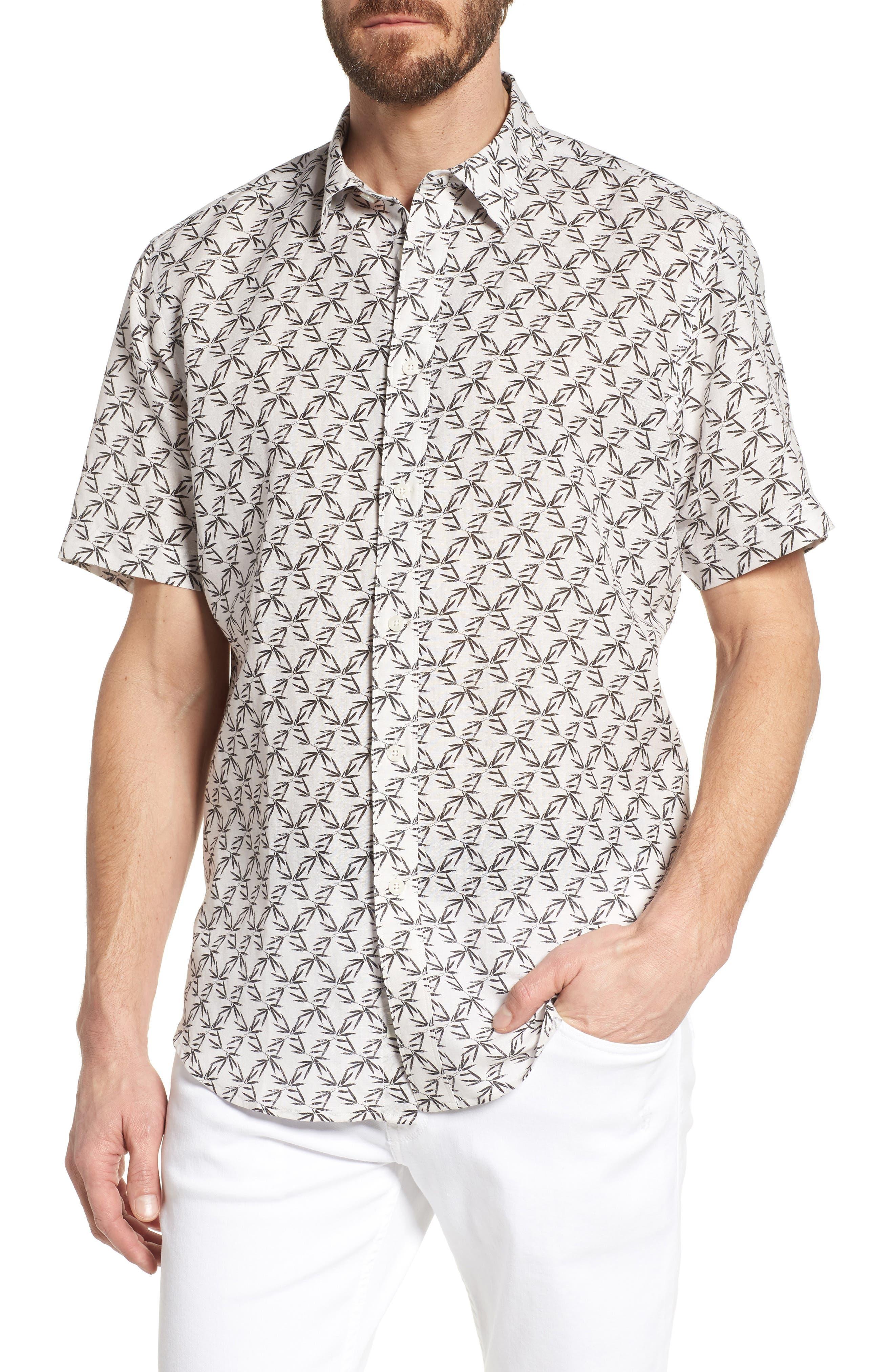 Coastaoro Palas Regular Fit Print Short Sleeve Sport Shirt