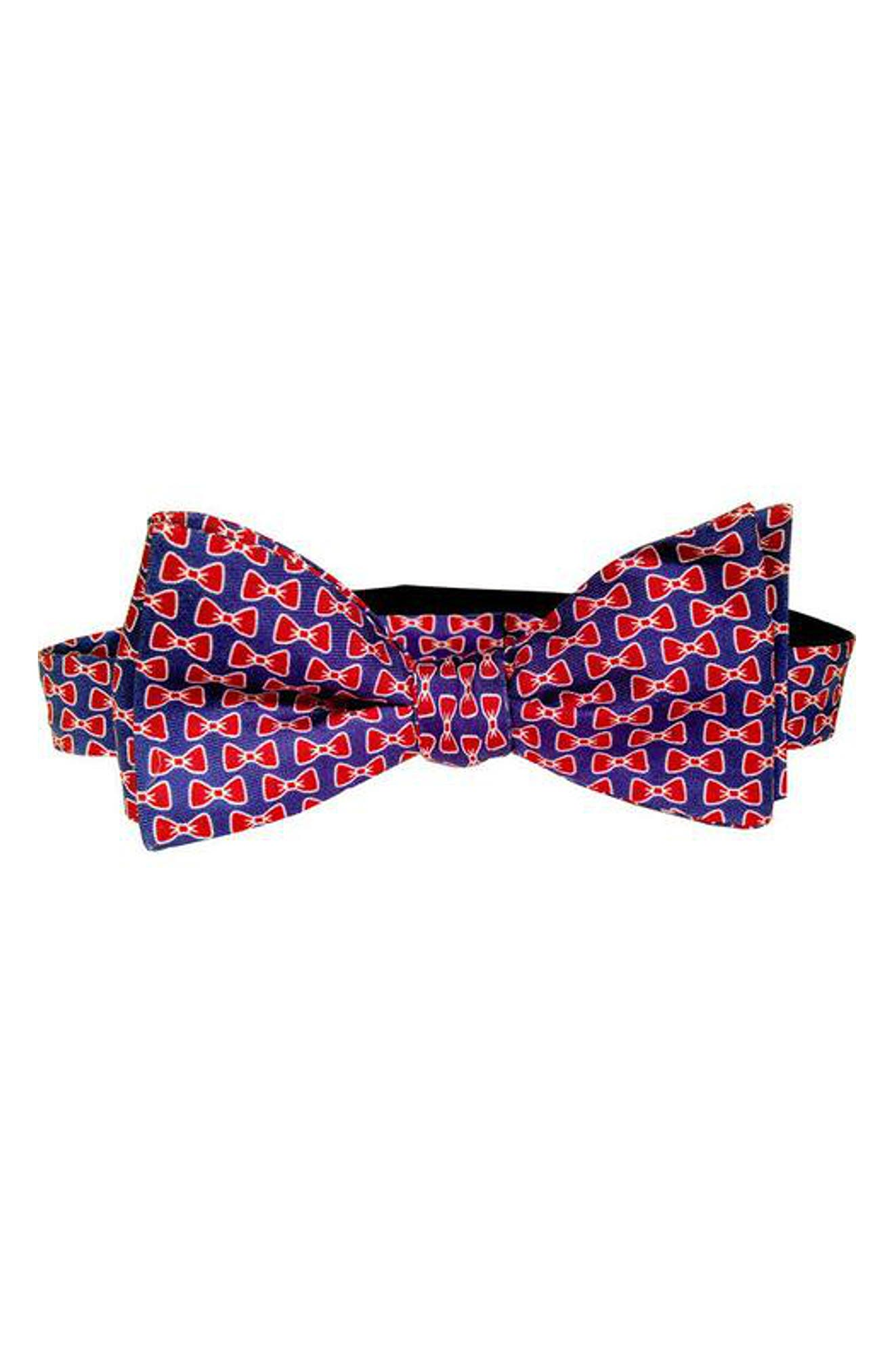 All Tied Up Silk Bow Tie,                             Main thumbnail 1, color,                             Navy