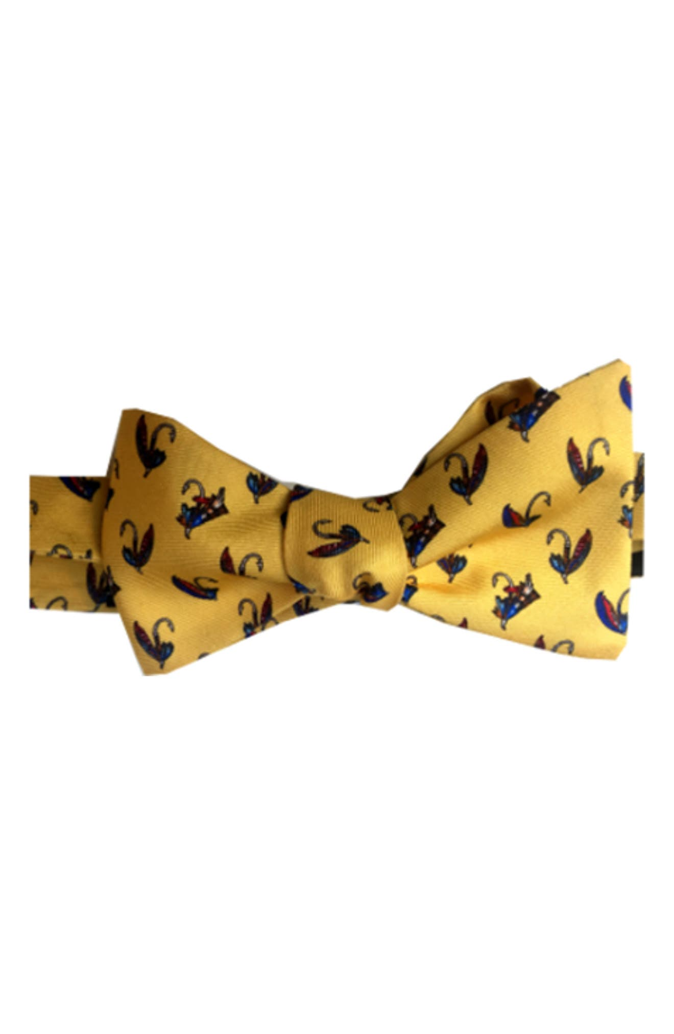 Show Me Your Fly Silk Bow Tie,                             Main thumbnail 1, color,                             Yellow