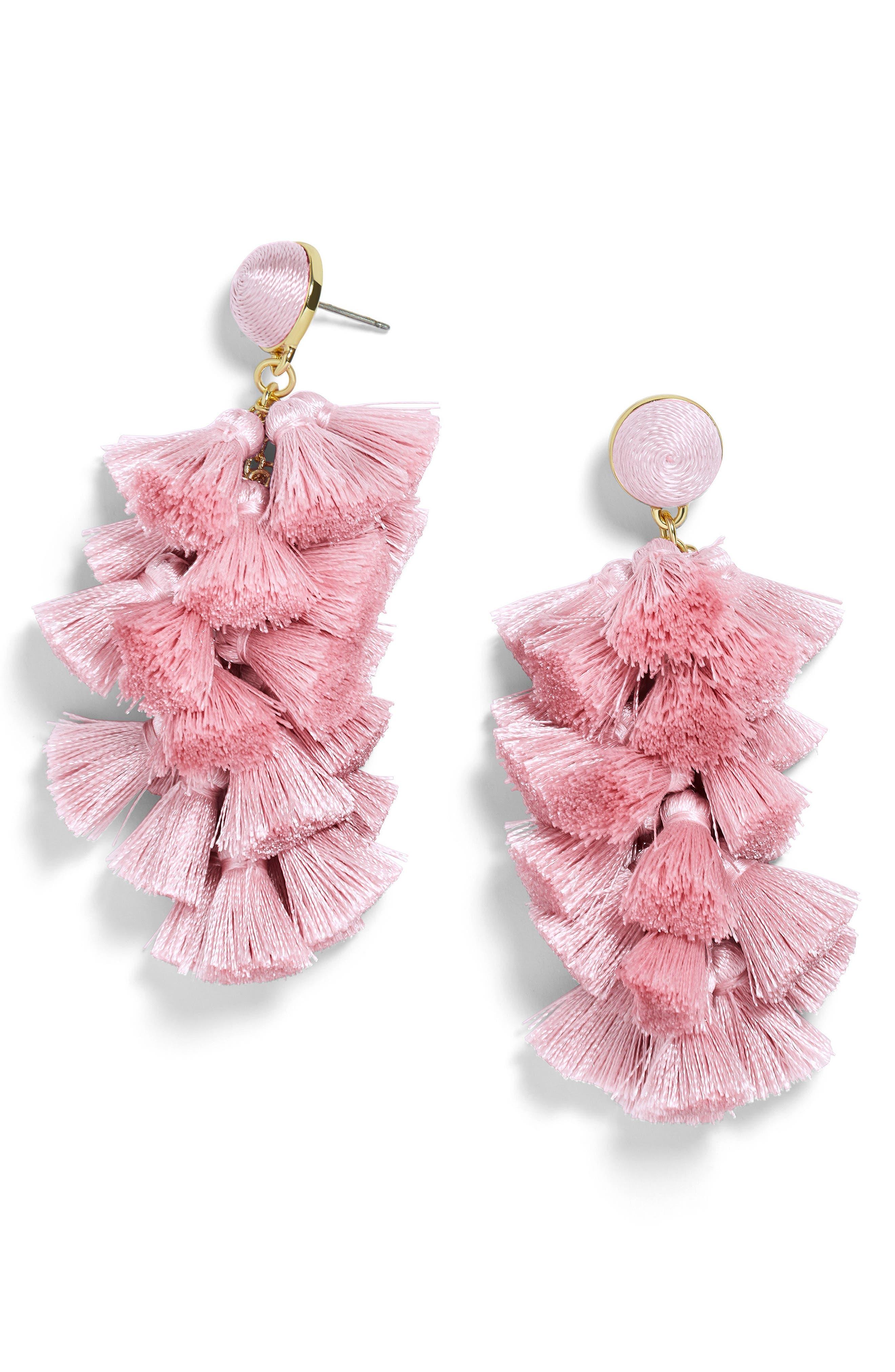 Contessa Tassel Earrings,                         Main,                         color, Blush