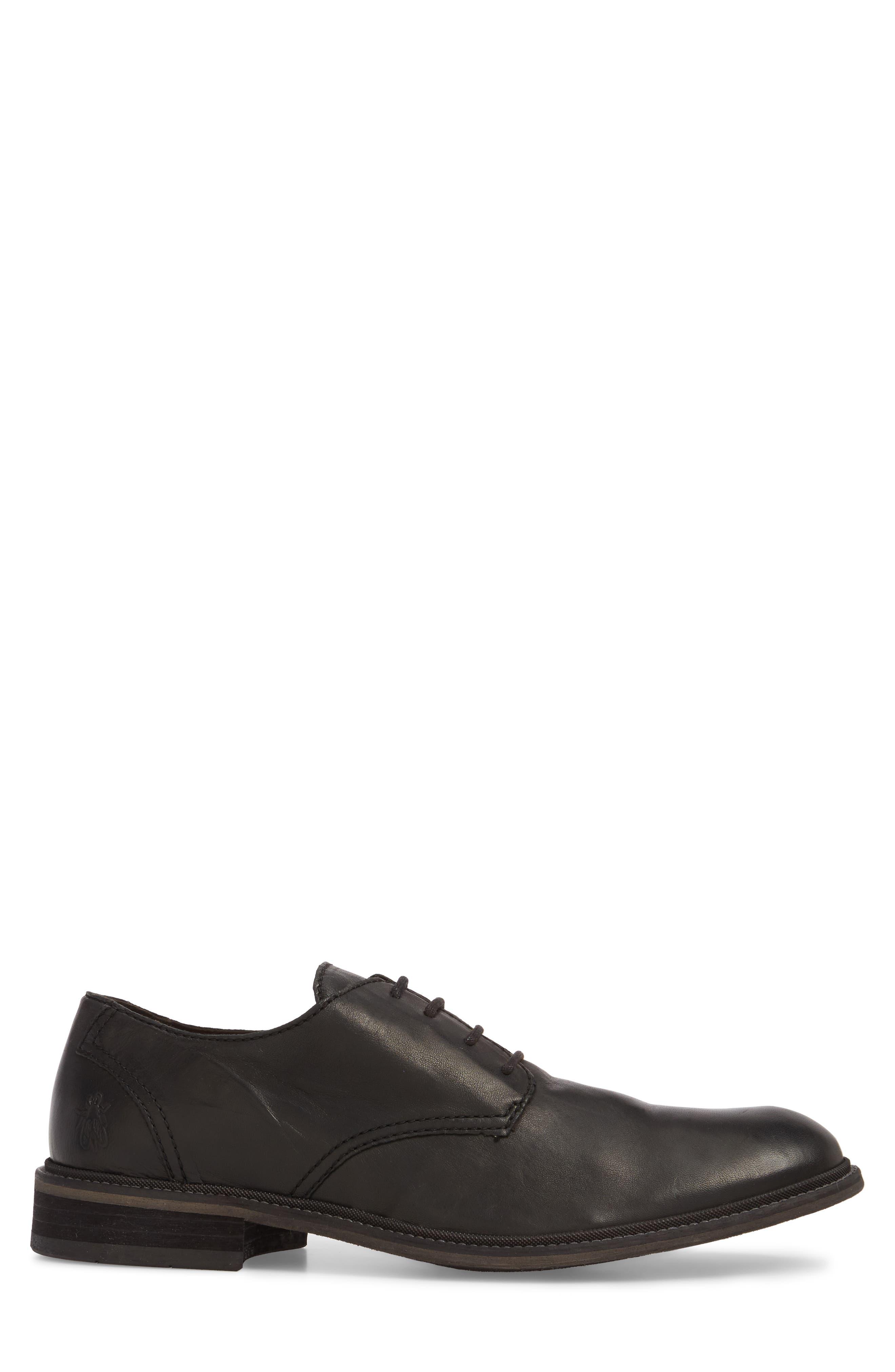 Hoco Plain Toe Derby,                             Alternate thumbnail 3, color,                             Black Leather