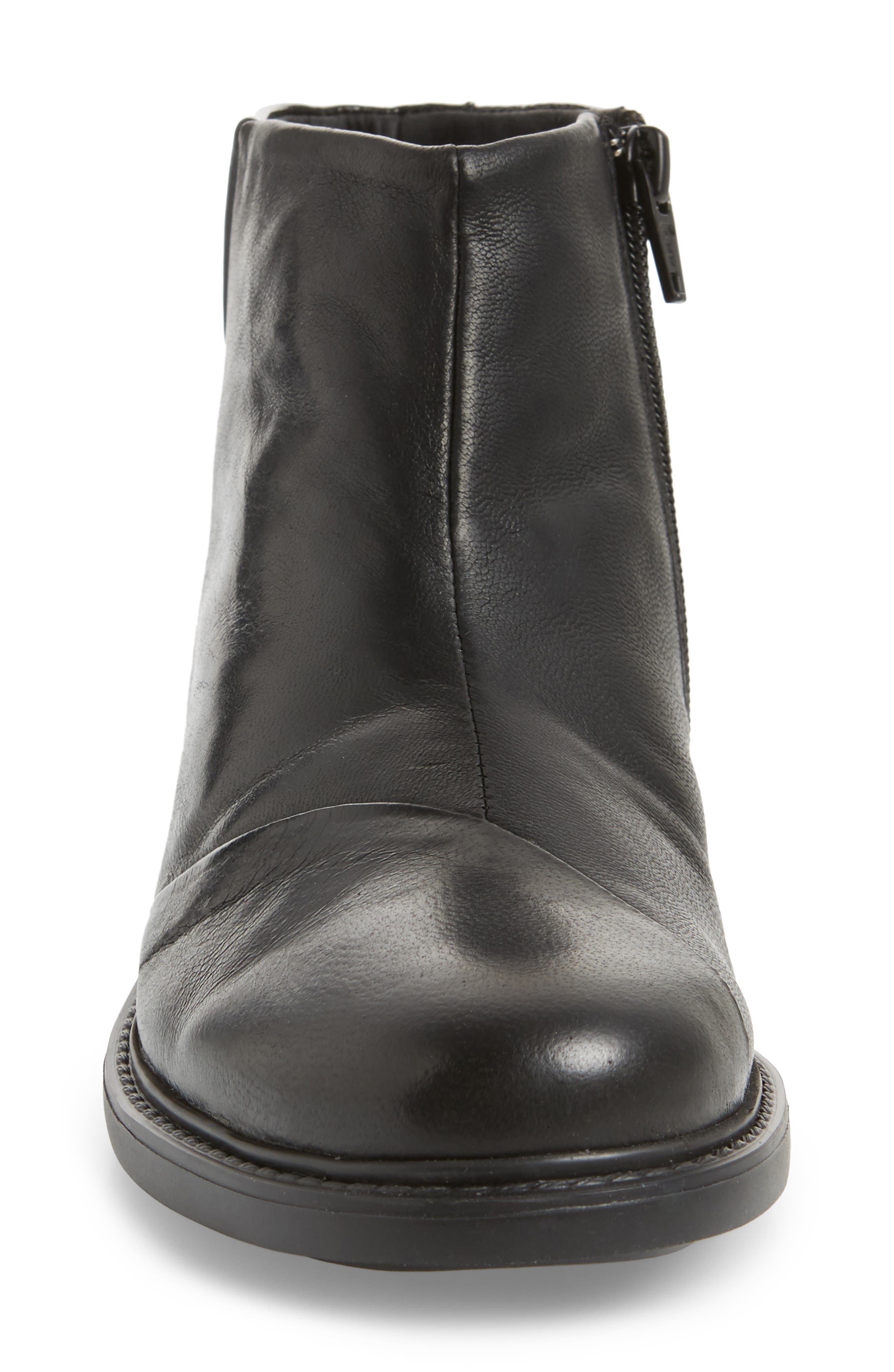 Penny Bootie,                             Alternate thumbnail 4, color,                             Black Leather