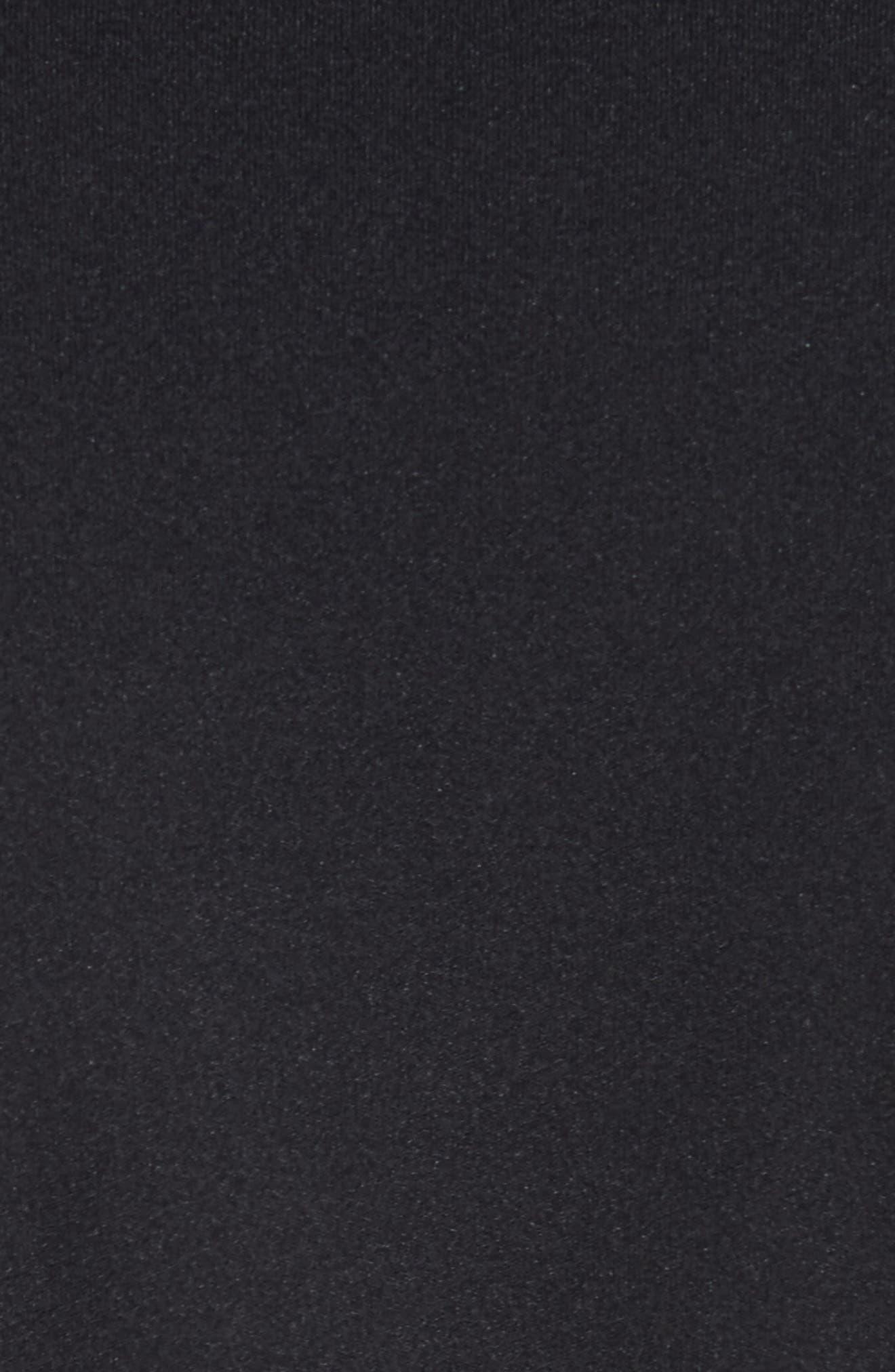 Ruffle Hem Tee,                             Alternate thumbnail 5, color,                             Black