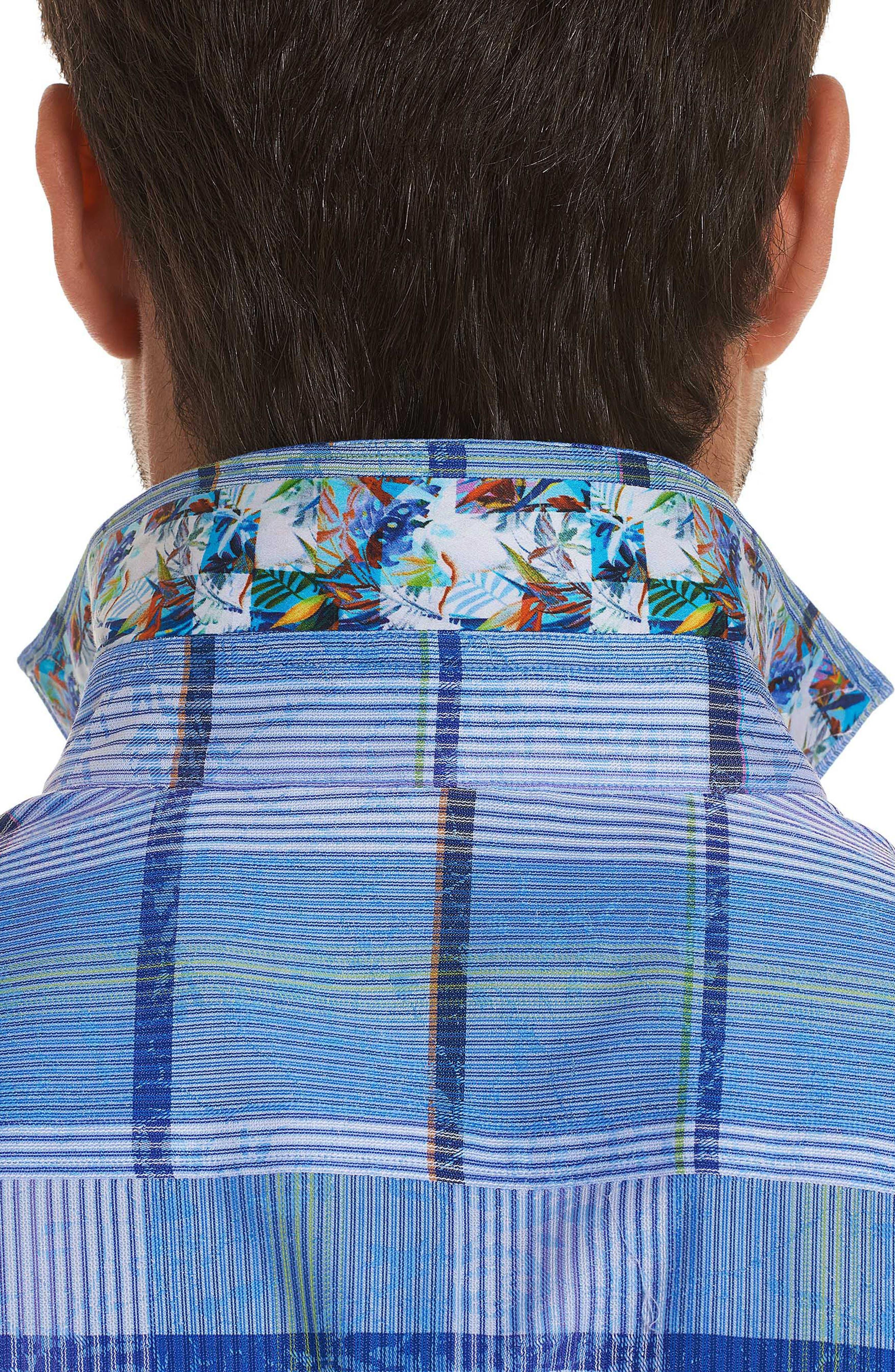 Ferro Classic Fit Sport Shirt,                             Alternate thumbnail 3, color,                             Blue