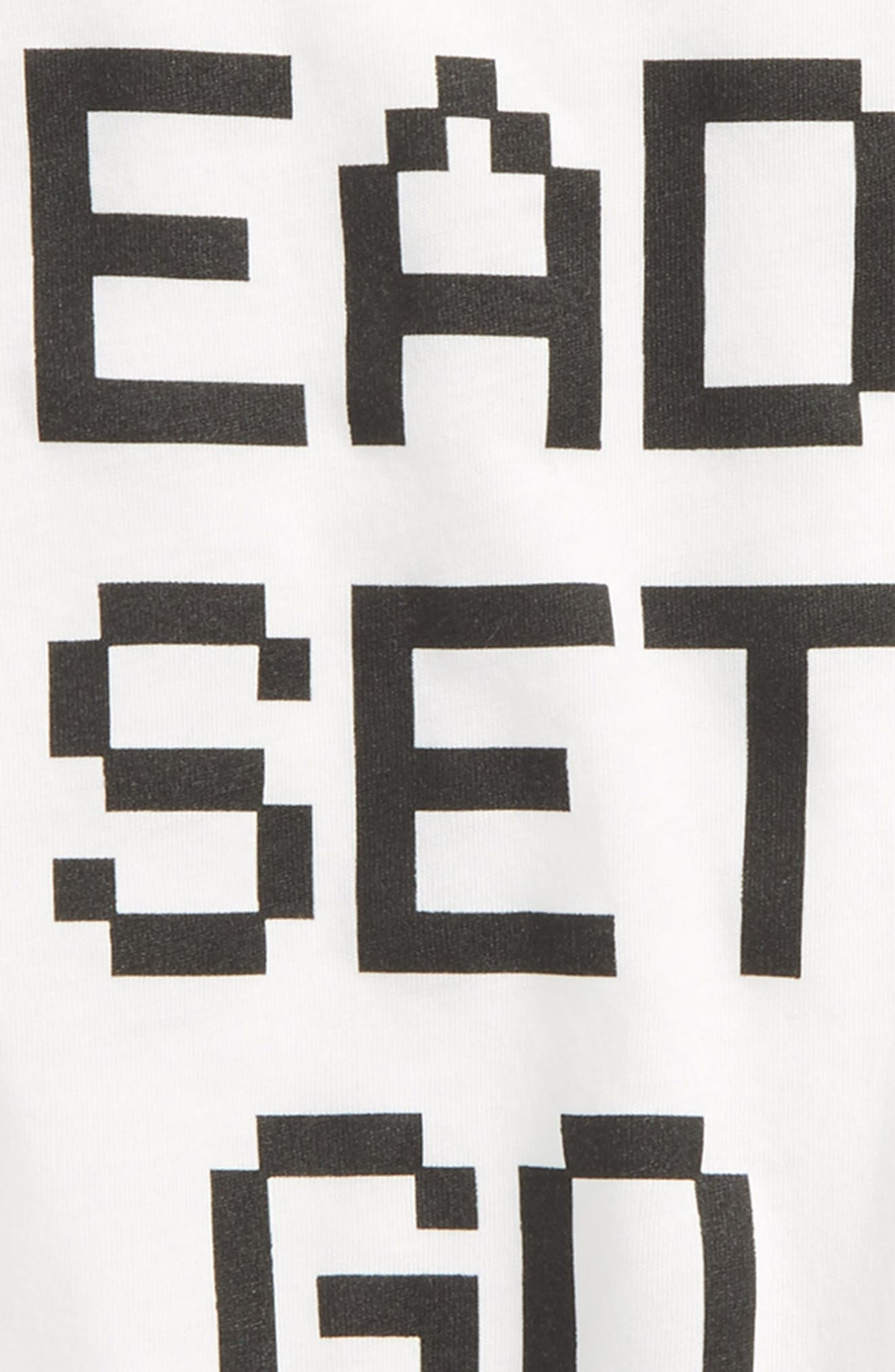 Ready Set Go Graphic T-Shirt,                             Alternate thumbnail 2, color,                             White