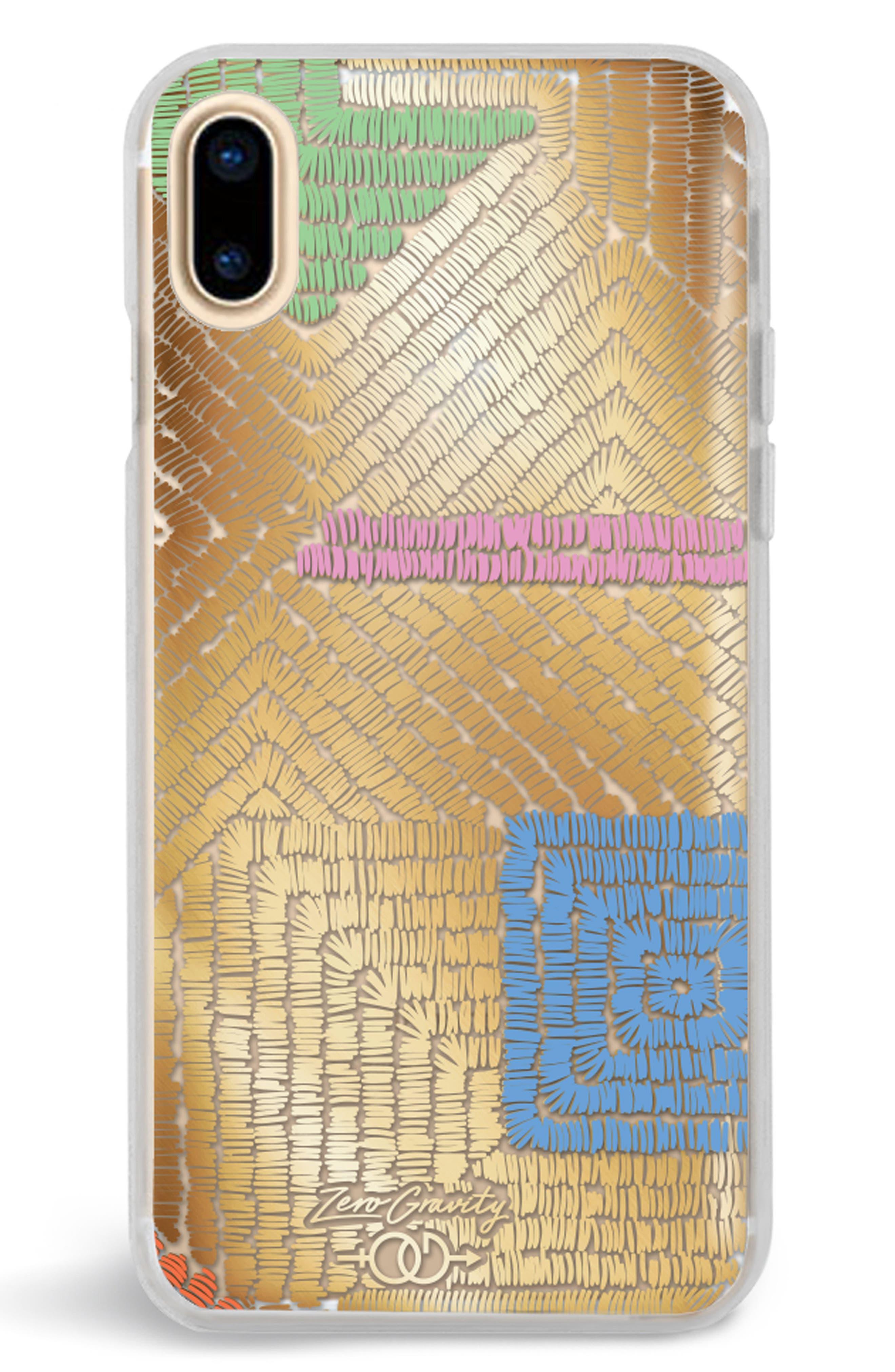 Maze iPhone X Case,                         Main,                         color, Gold Multi