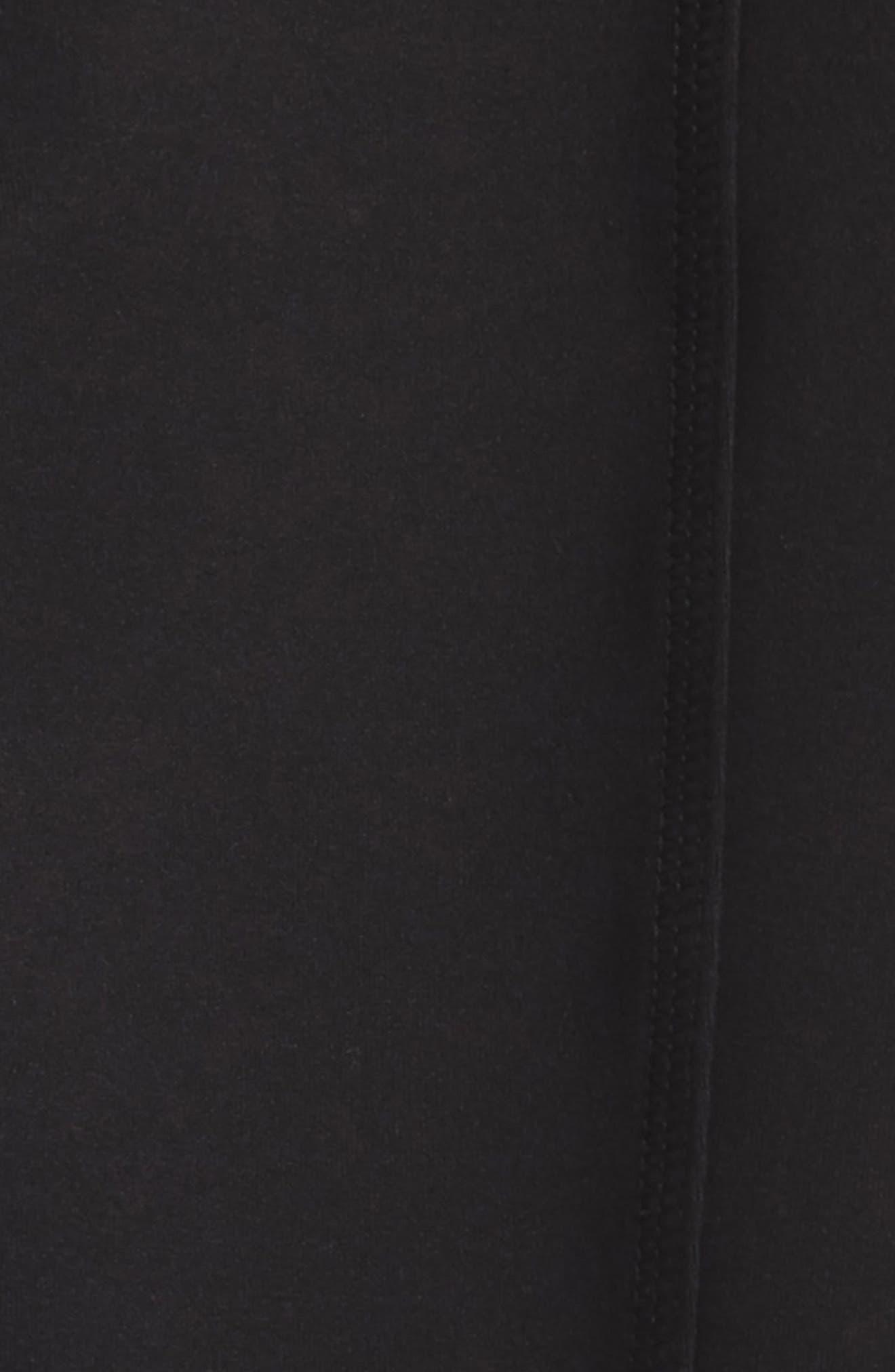 Strappy High Waist Leggings,                             Alternate thumbnail 2, color,                             Black