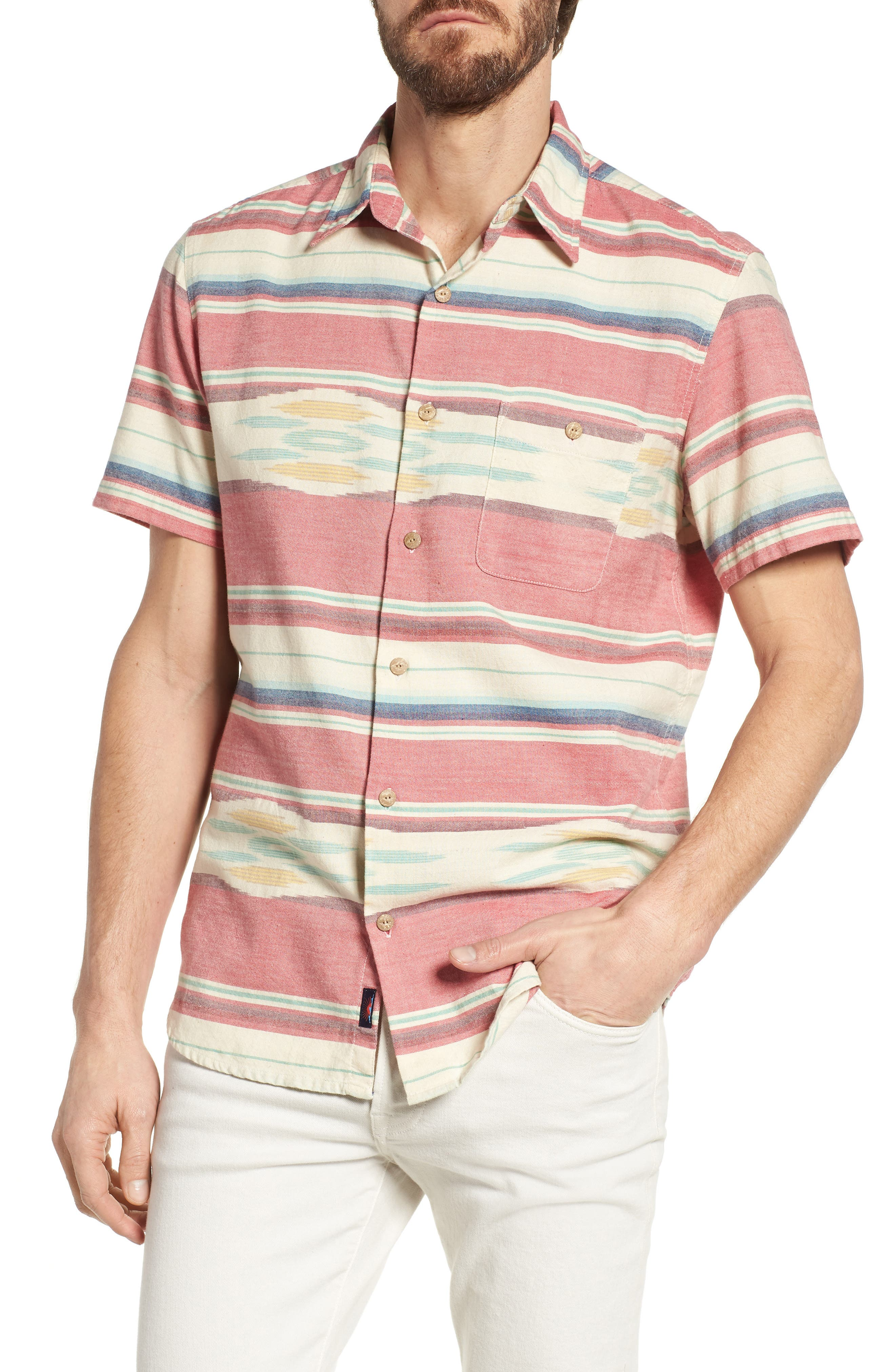 Coast Ikat Sport Shirt,                             Main thumbnail 1, color,                             Native Ikat