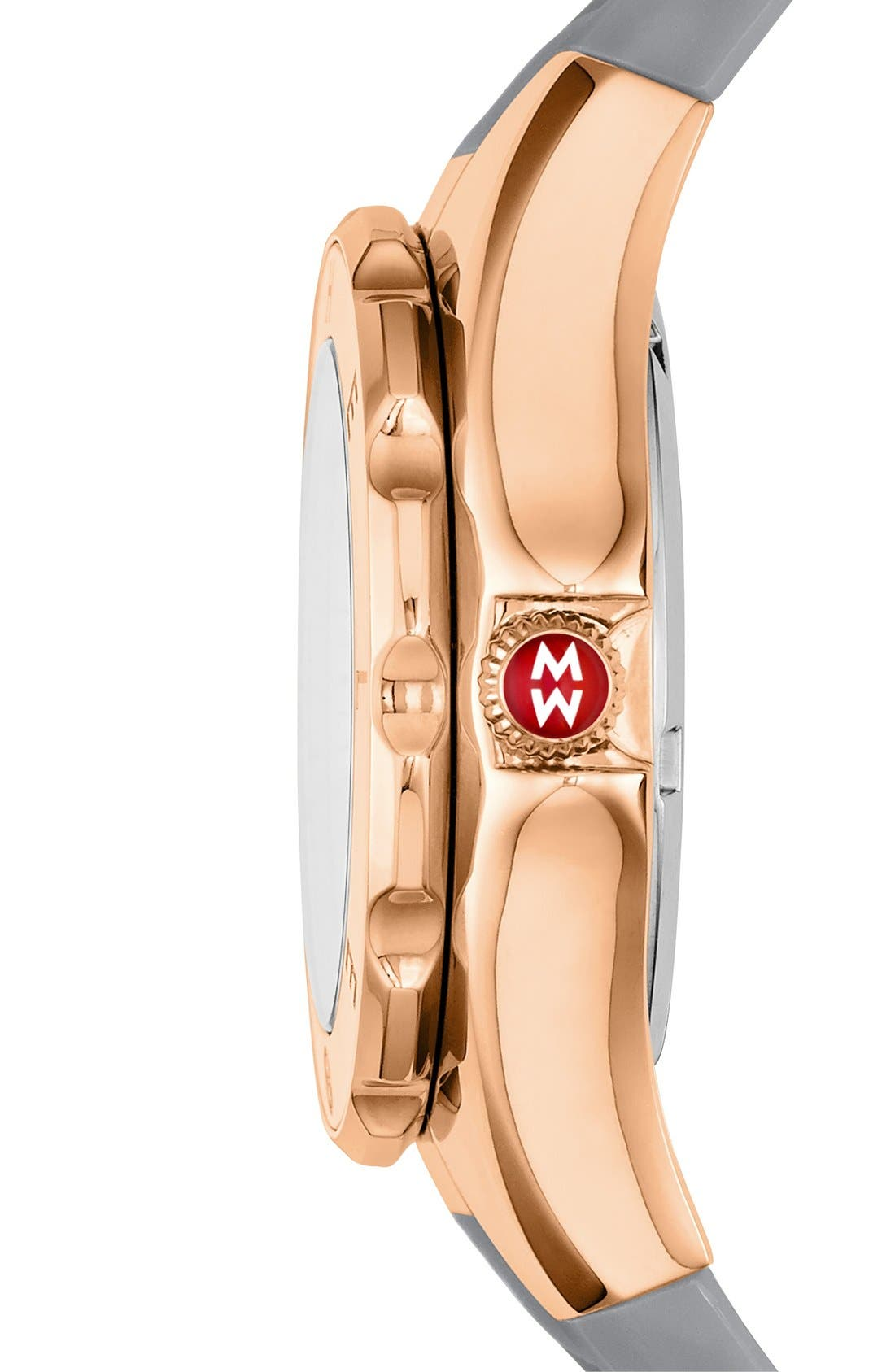 Alternate Image 2  - MICHELE 'Tahitian Jelly Bean' Rose Gold Plated Watch, 40mm
