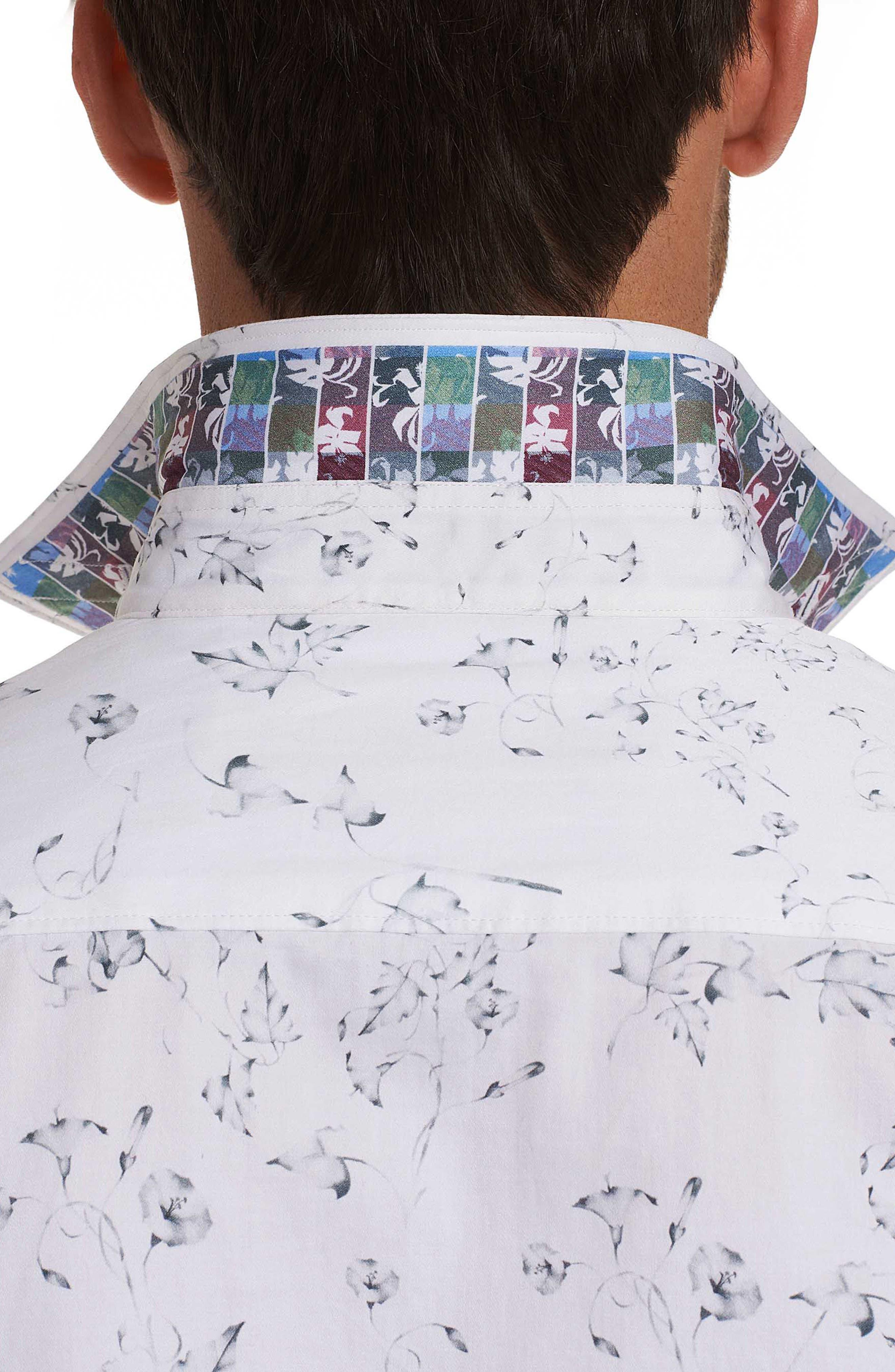 De La Cruz Classic Fit Sport Shirt,                             Alternate thumbnail 4, color,                             White