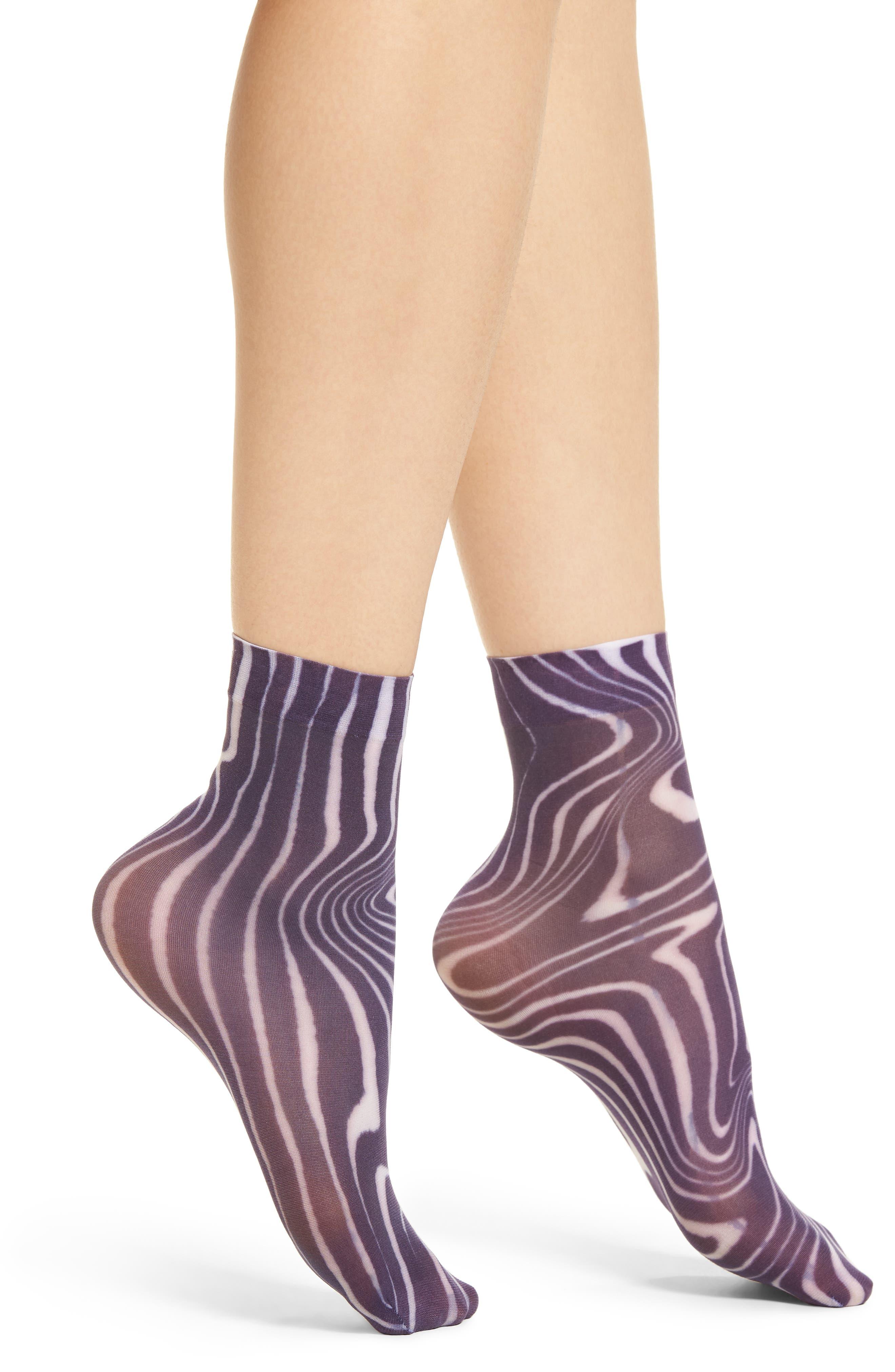 Hysteria Mia Ankle Socks,                             Main thumbnail 1, color,                             Black