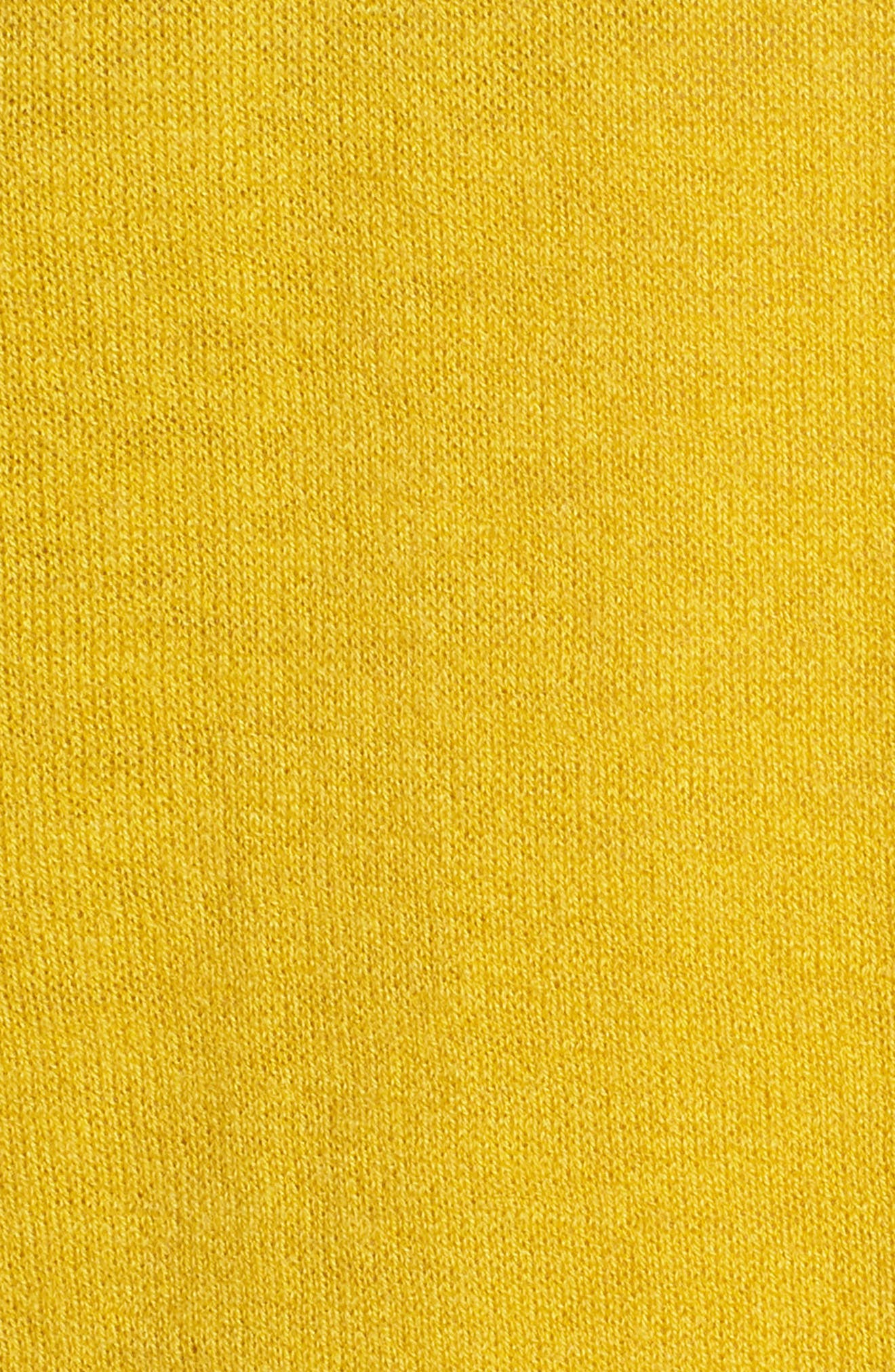 Stripe Wool & Cashmere Sweater,                             Alternate thumbnail 6, color,                             Mustard