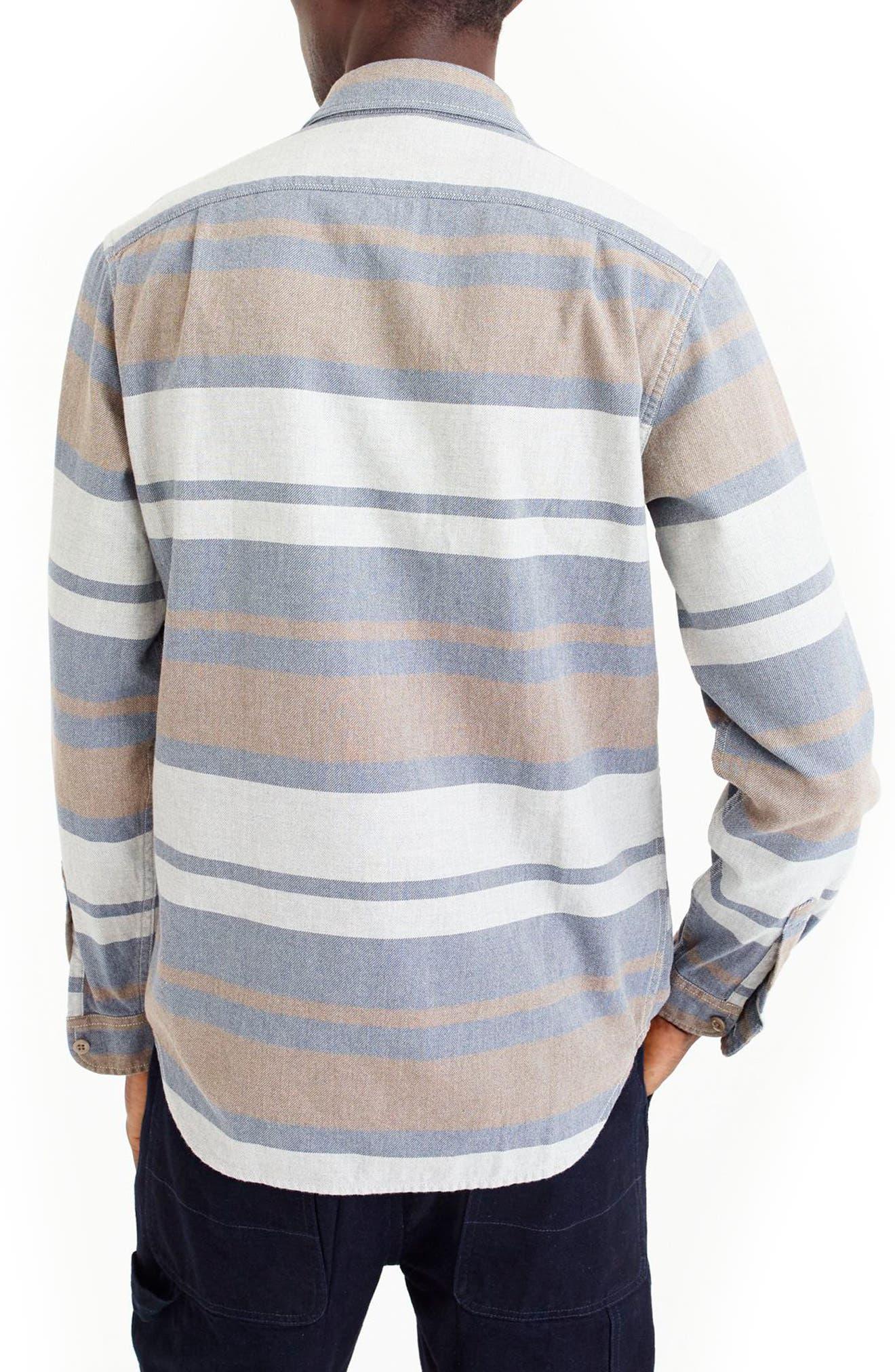 Classic Fit Deck Stripe Work Shirt,                             Alternate thumbnail 2, color,                             Pavement Sea