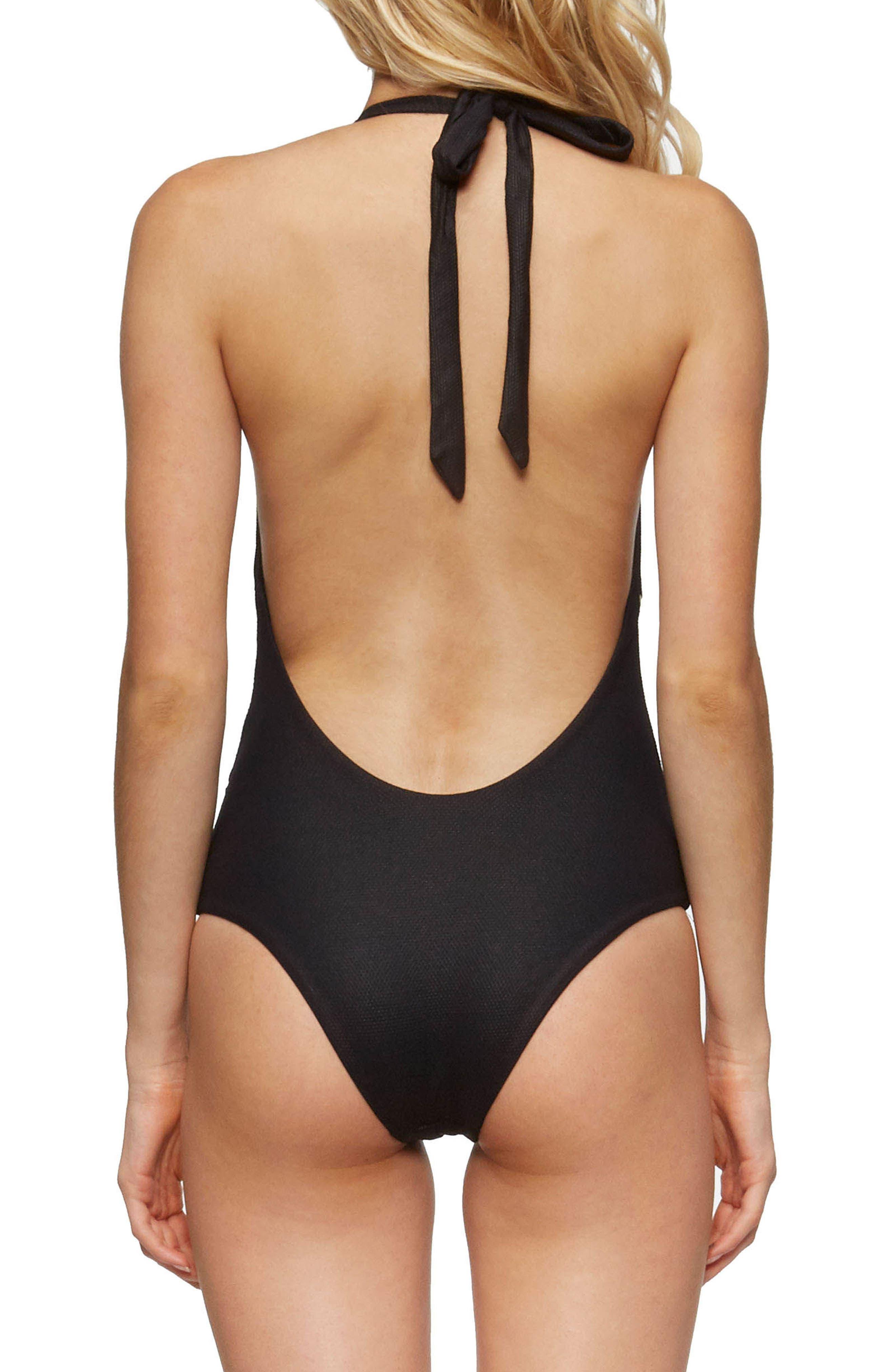 Hannah One-Piece Swimsuit,                             Alternate thumbnail 2, color,                             Black