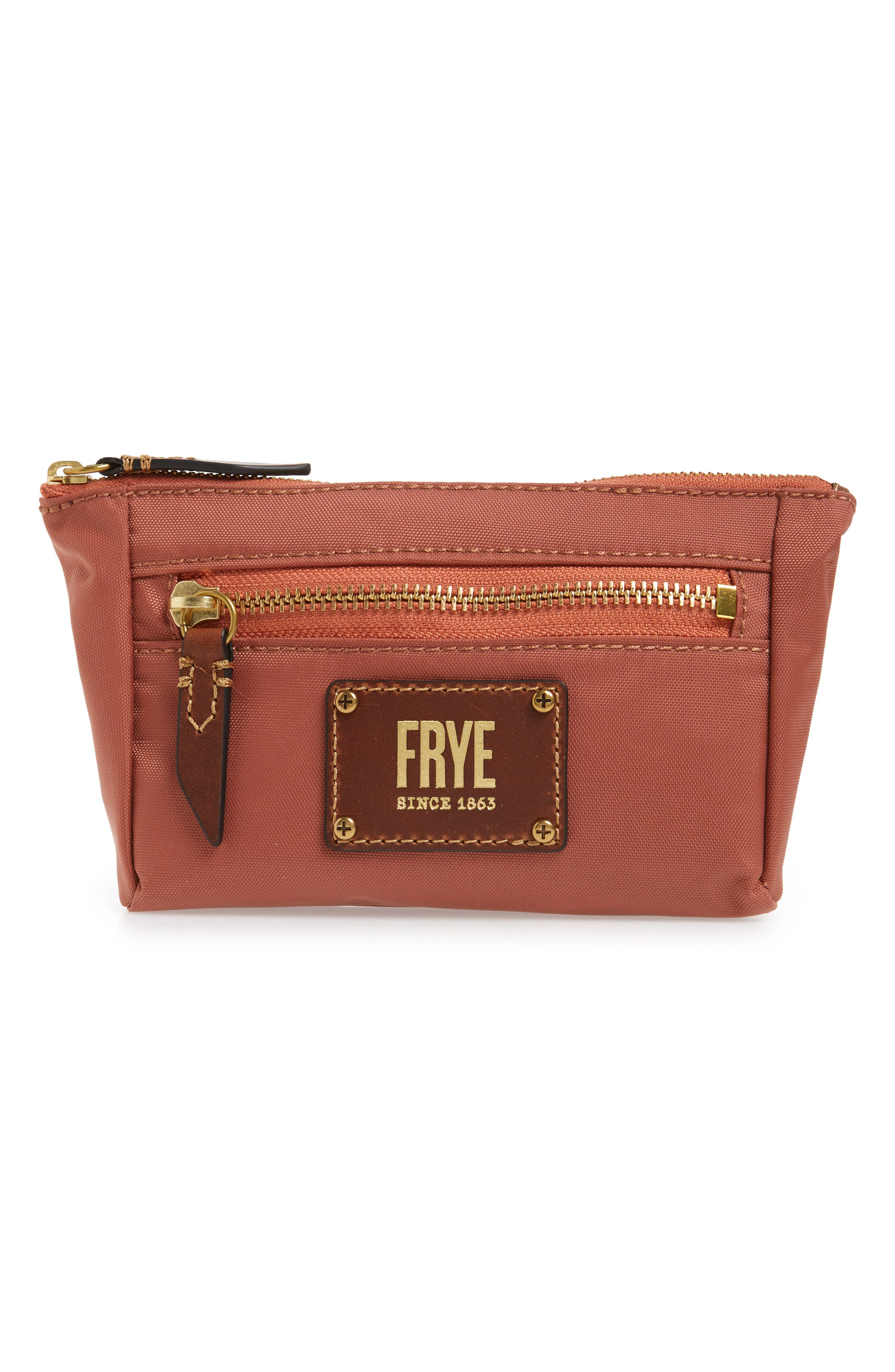Ivy Nylon Cosmetics Bag in Dusty Rose