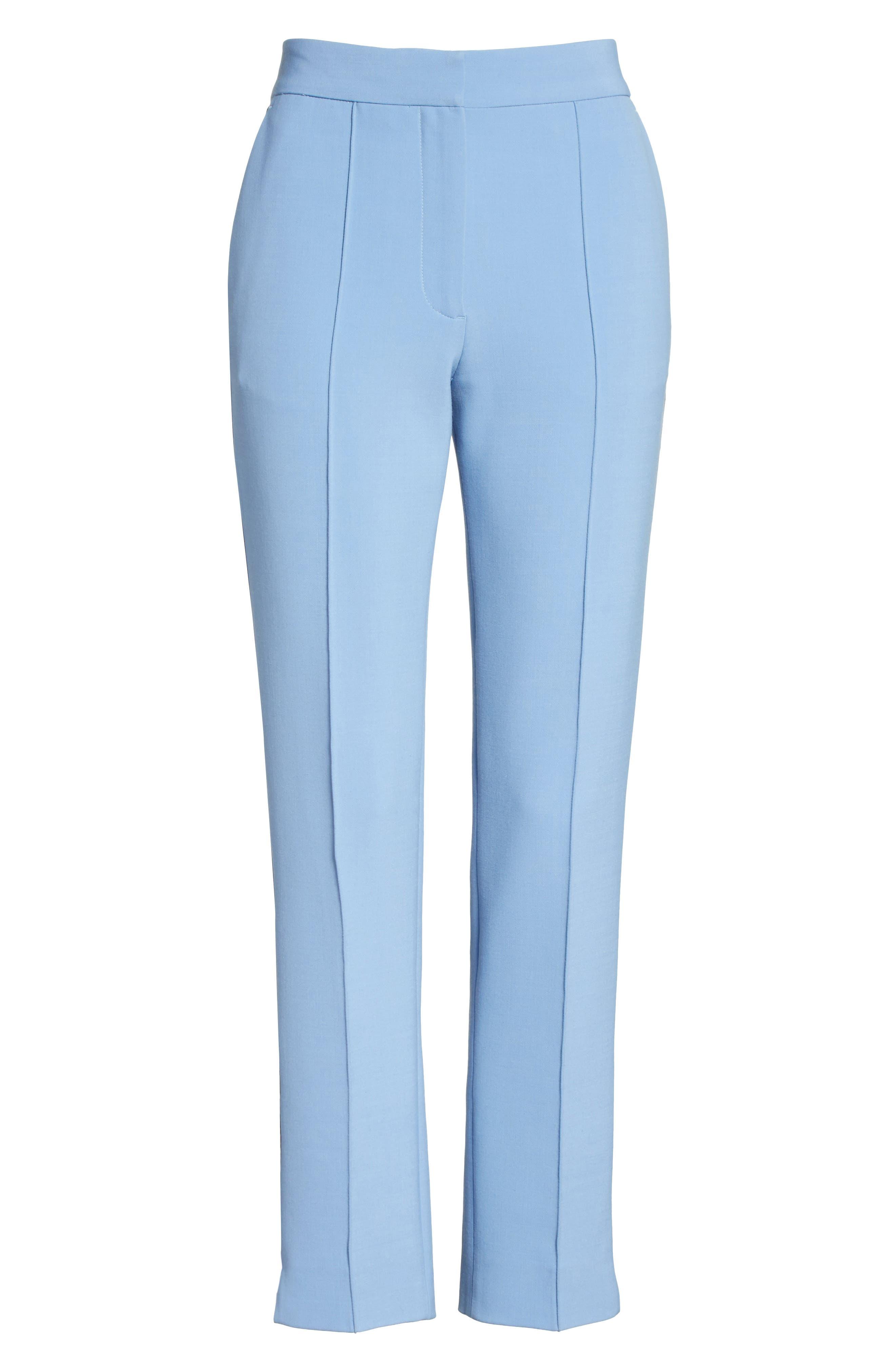 Stripe Split Hem Pants,                             Alternate thumbnail 6, color,                             Lagoon Blue