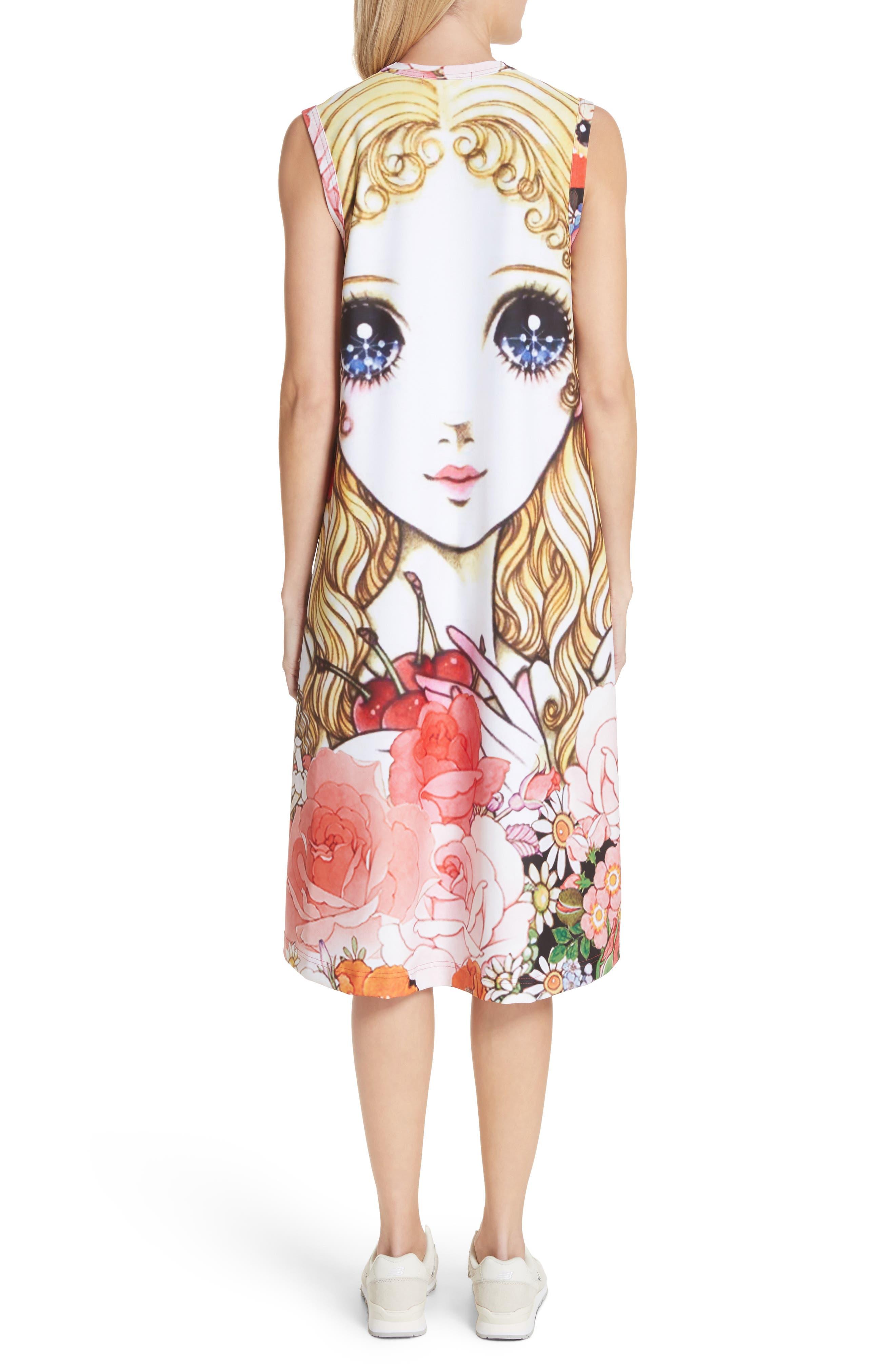 Manga Print Sleeveless Dress,                             Alternate thumbnail 2, color,                             J Pattern