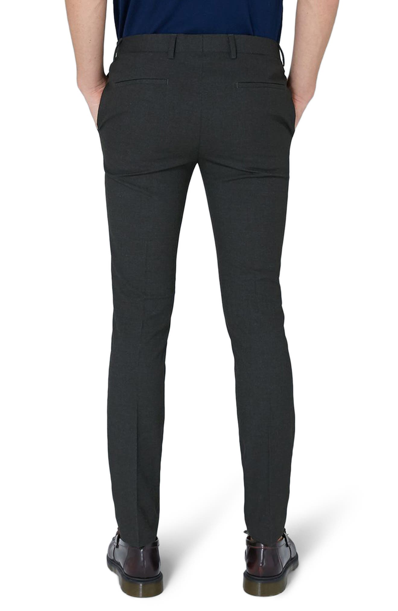 Ultra Skinny Fit Trousers,                             Alternate thumbnail 2, color,                             Charcoal