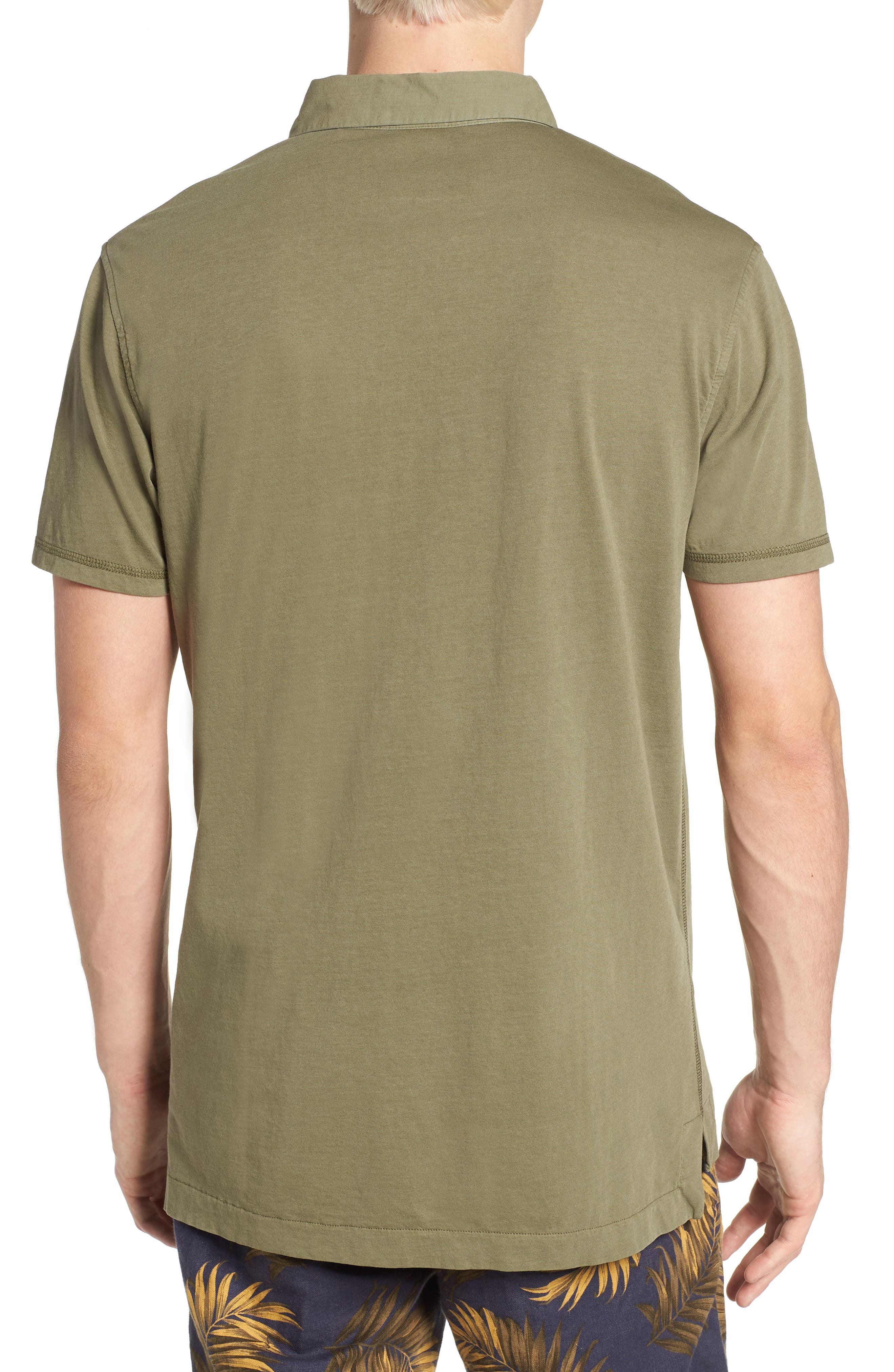 Classic Jersey Polo,                             Alternate thumbnail 2, color,                             Army