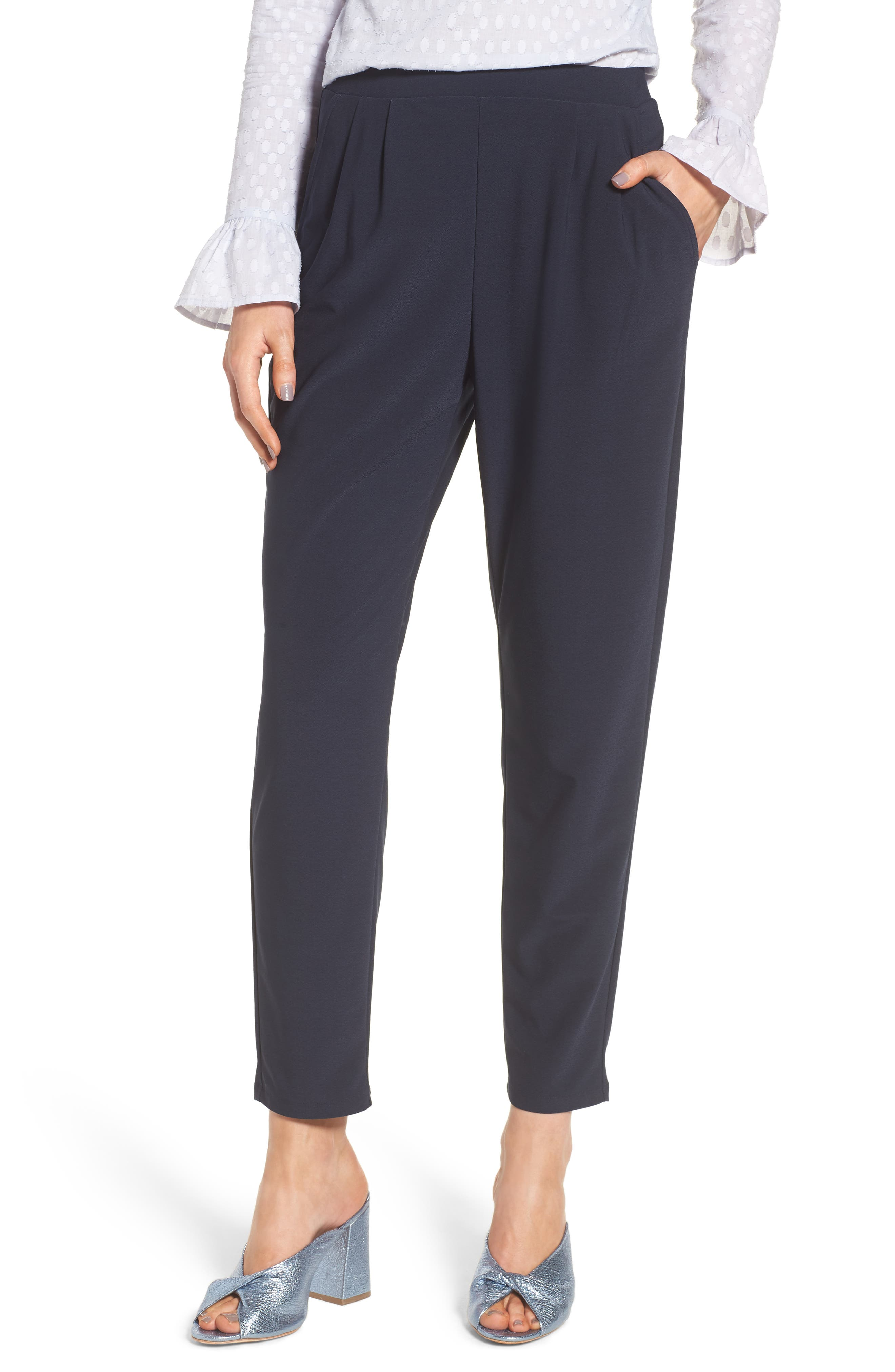 Alternate Image 1 Selected - Leith Pleat Front Trousers