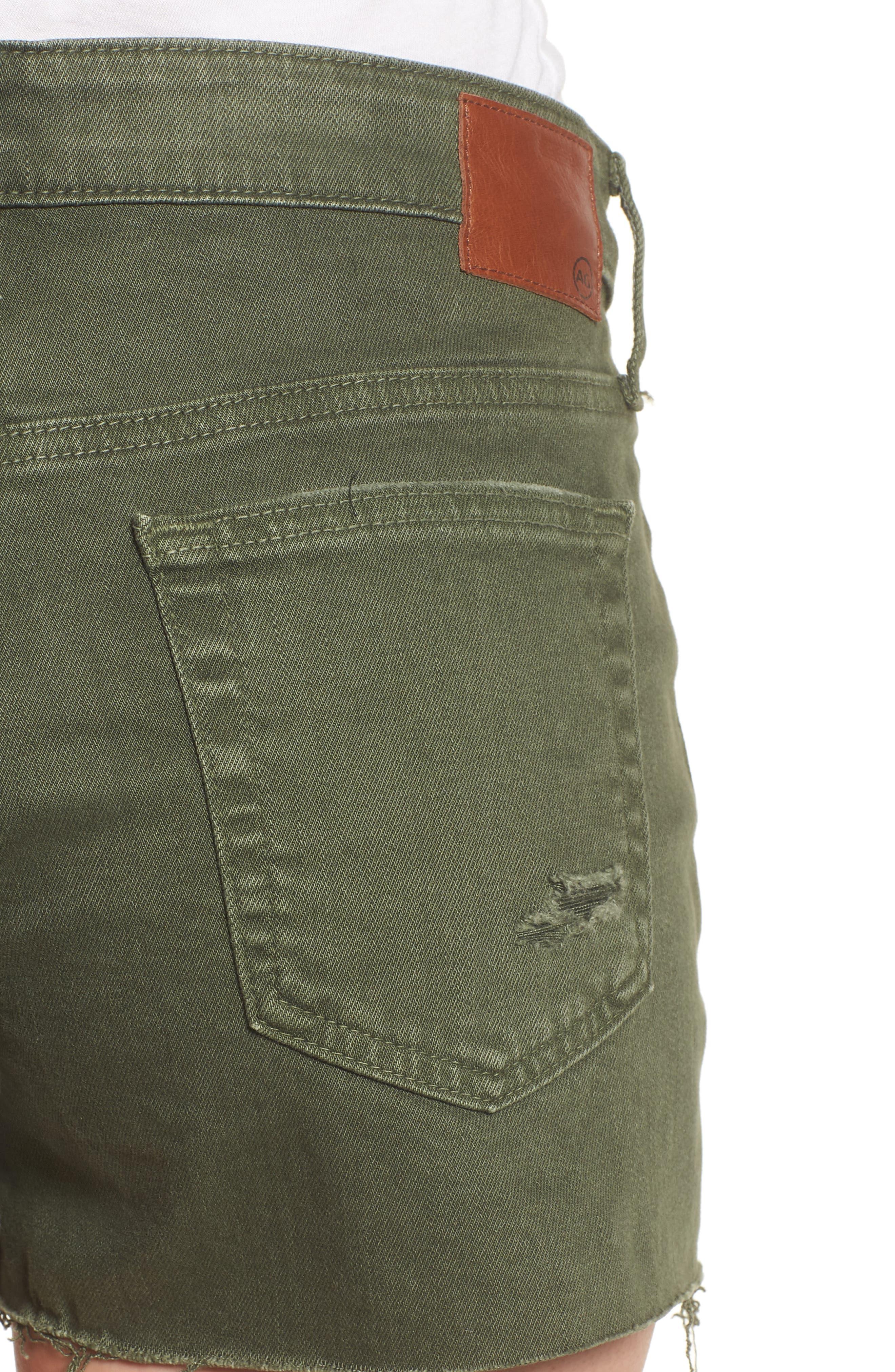 The Bryn High Waist Cutoff Denim Shorts,                             Alternate thumbnail 6, color,                             10 Years Remedy Desert Pine