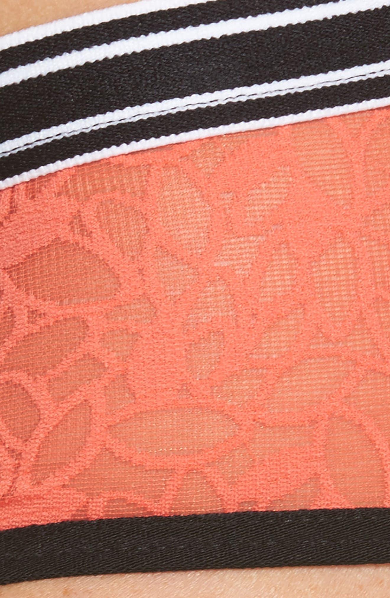 Lori Lace Hipster Panties,                             Alternate thumbnail 9, color,                             Coral Hot