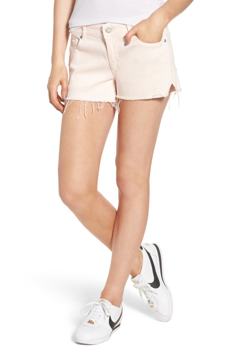 Renee Notch Raw Hem Denim Shorts